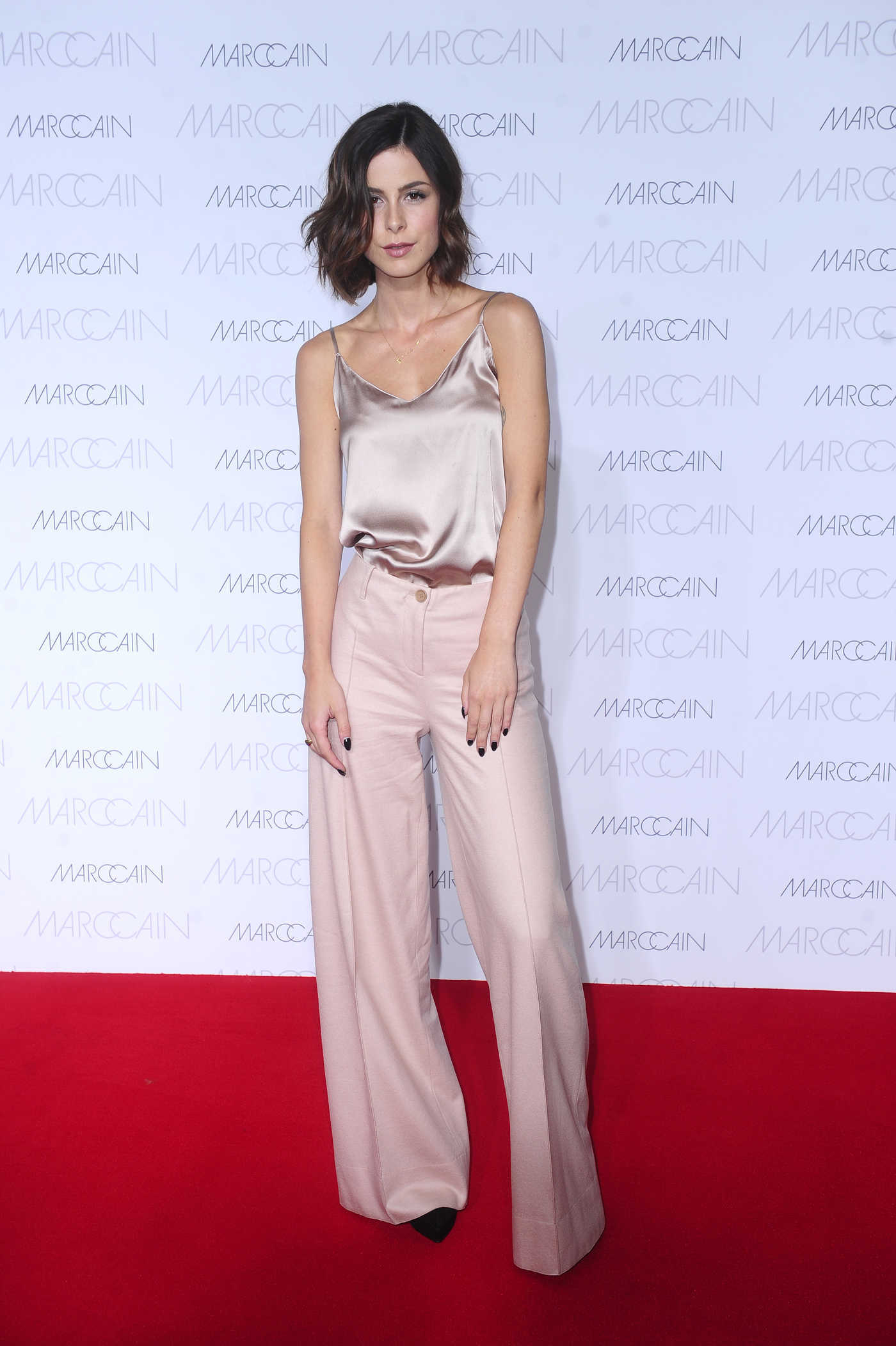 Lena Meyer-Landrut at the Marc Cain Show During Mercedes Benz Fashion Week in Berlin 06/28/2016