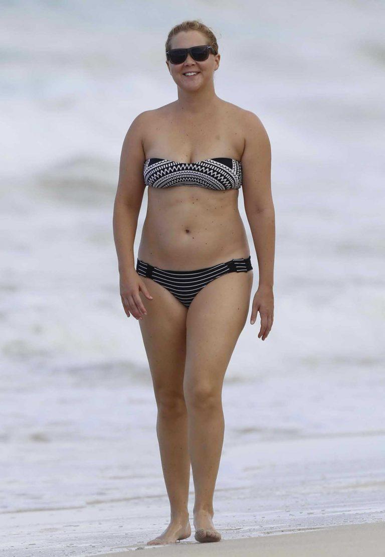 Amy Schumer Wearing a Bikini at the Beach in Hawaii 07/16/2016-1