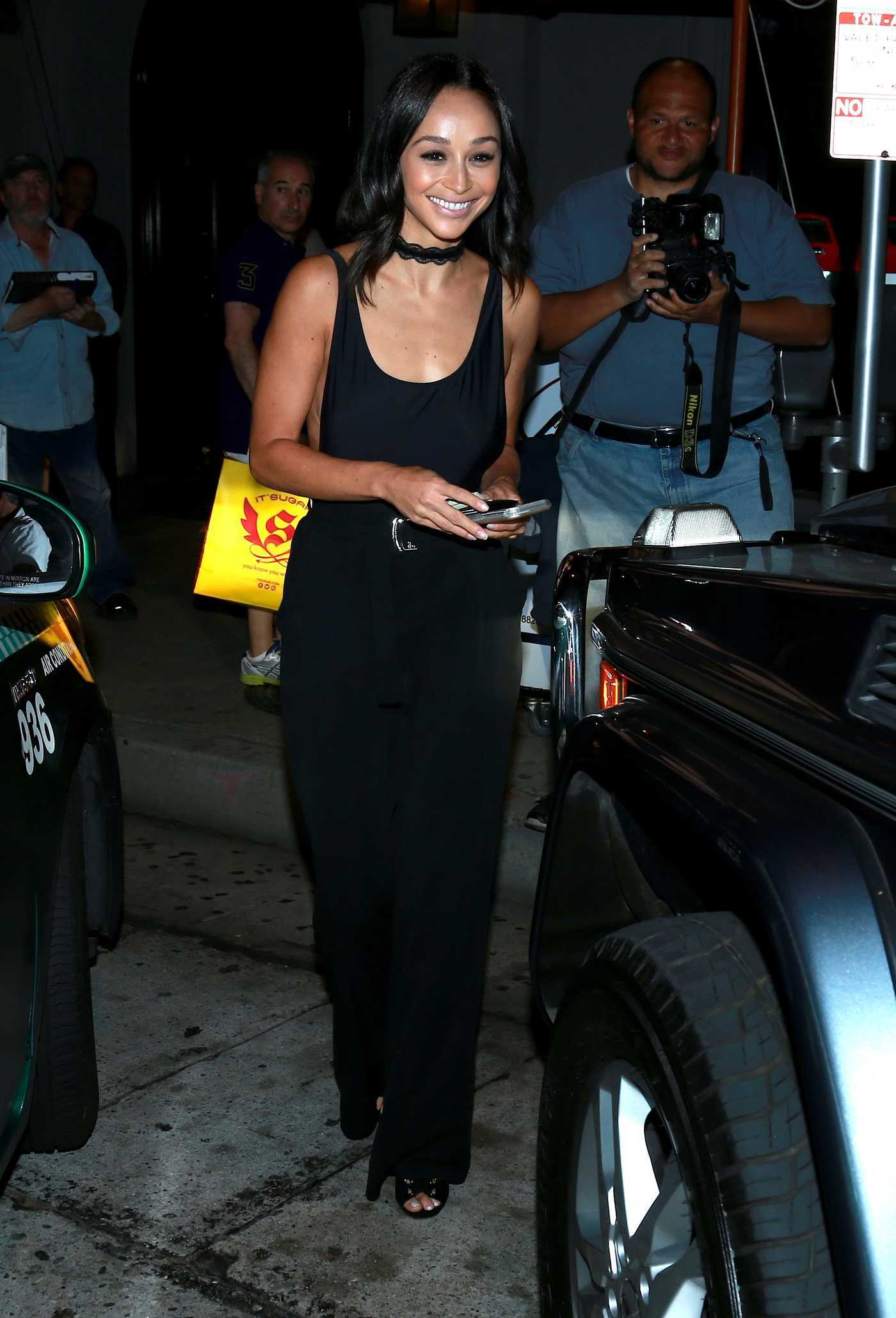 Cara Santana Leaves Craig's Restaurant in West Hollywood 07/29/2016