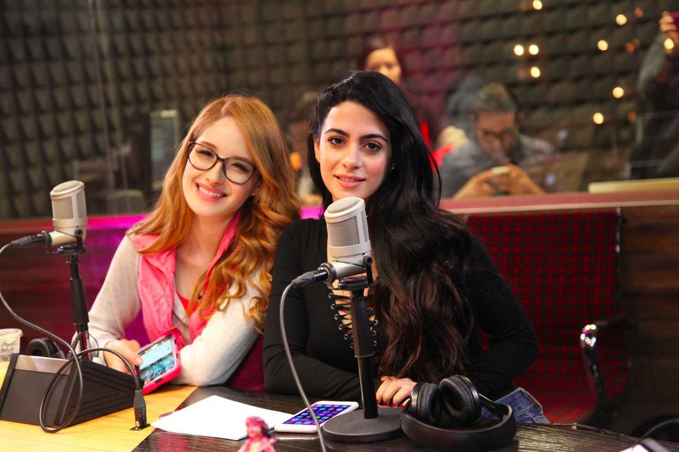 Emeraude Toubia at ExaFM Studios in Mexico 07/01/2016