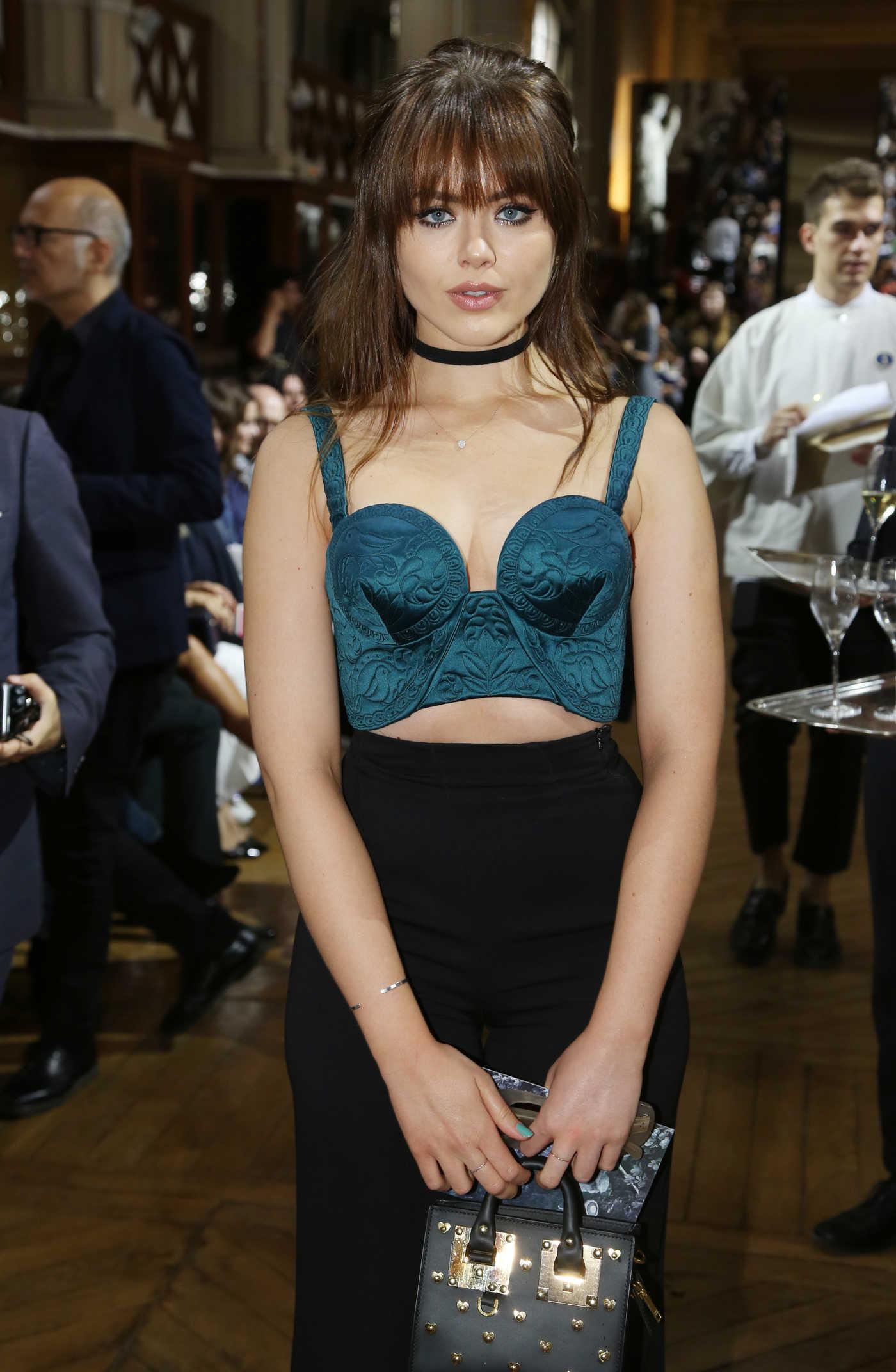 Kristina Bazan at Ulyana Sergeenko Haute Couture Fall Show in Paris 07/03/2016