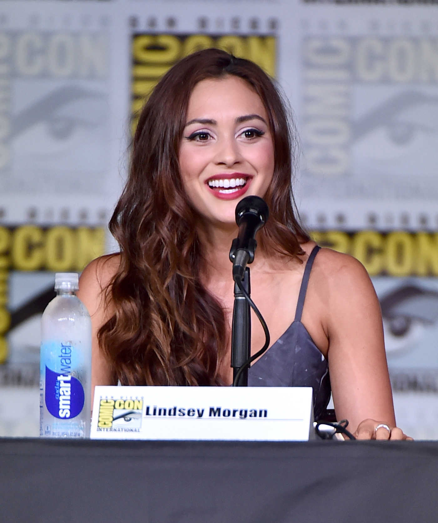 Lindsey Morgan at The 100 Panel at Comic-Con International in San Diego 07/22/2016