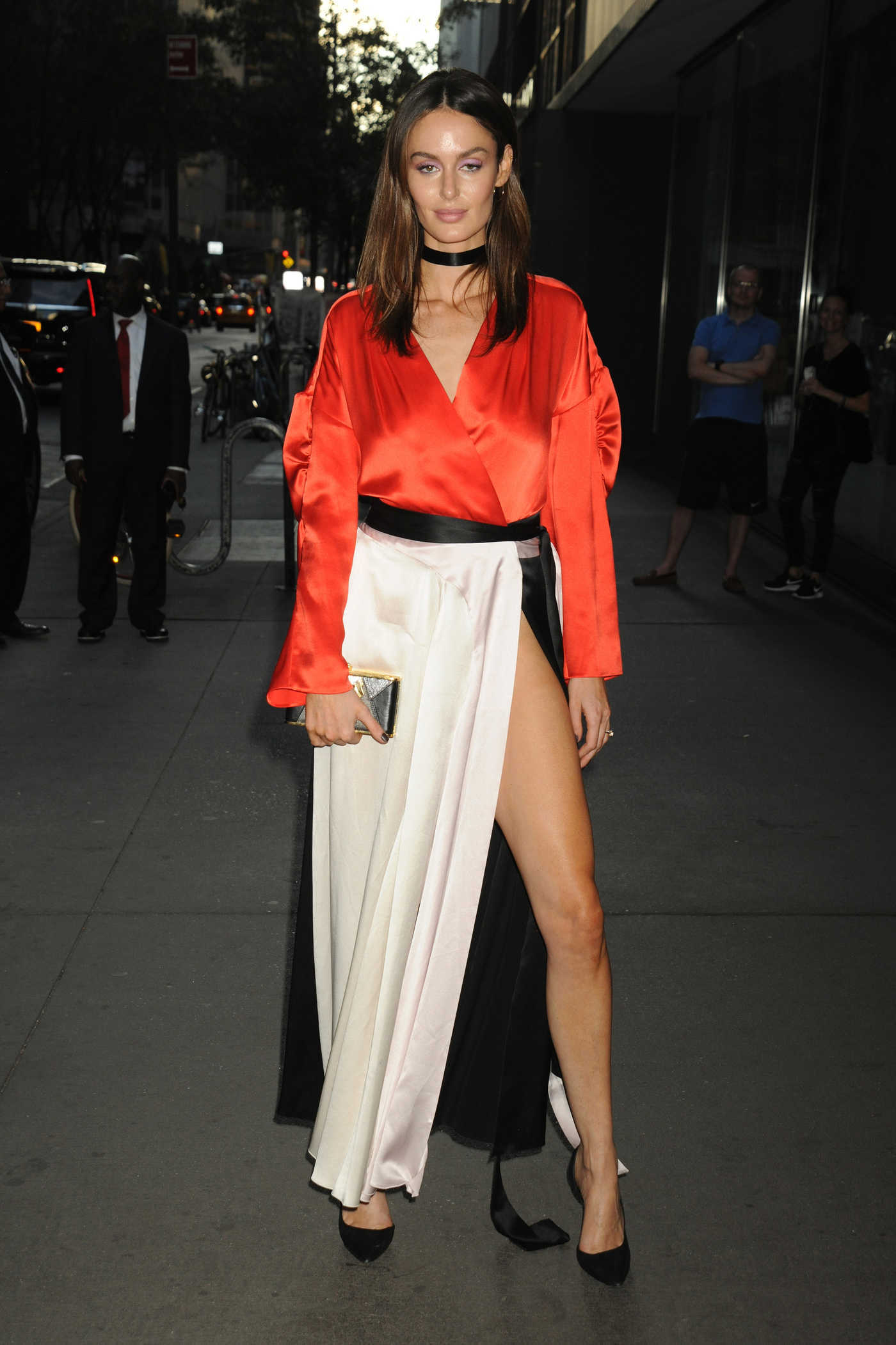 Nicole Trunfio Leaves the Museum of Modern Art in NYC 07/26/2016