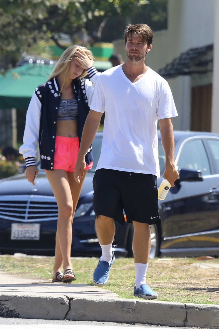 Patrick Schwarzenegger With His Girlfriend Was Seen Out in Beverly Hills 07/15/2016-1