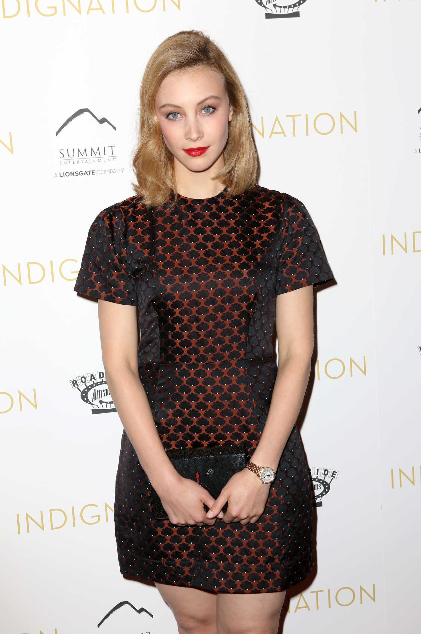 Sarah Gadon at The Indignation Premiere in NYC 07/25/2016