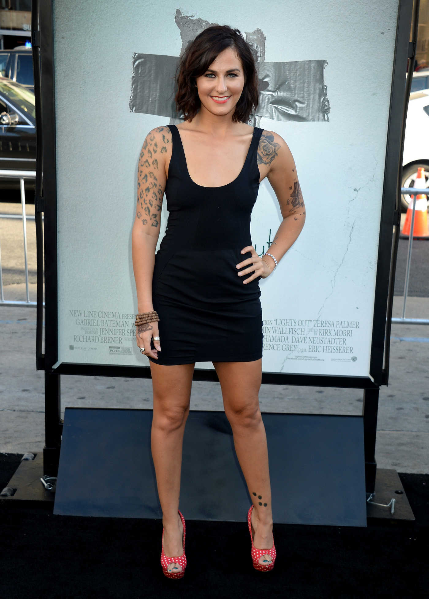 Scout Taylor Compton at the Lights Out Premiere in Los Angeles 07/19/2016