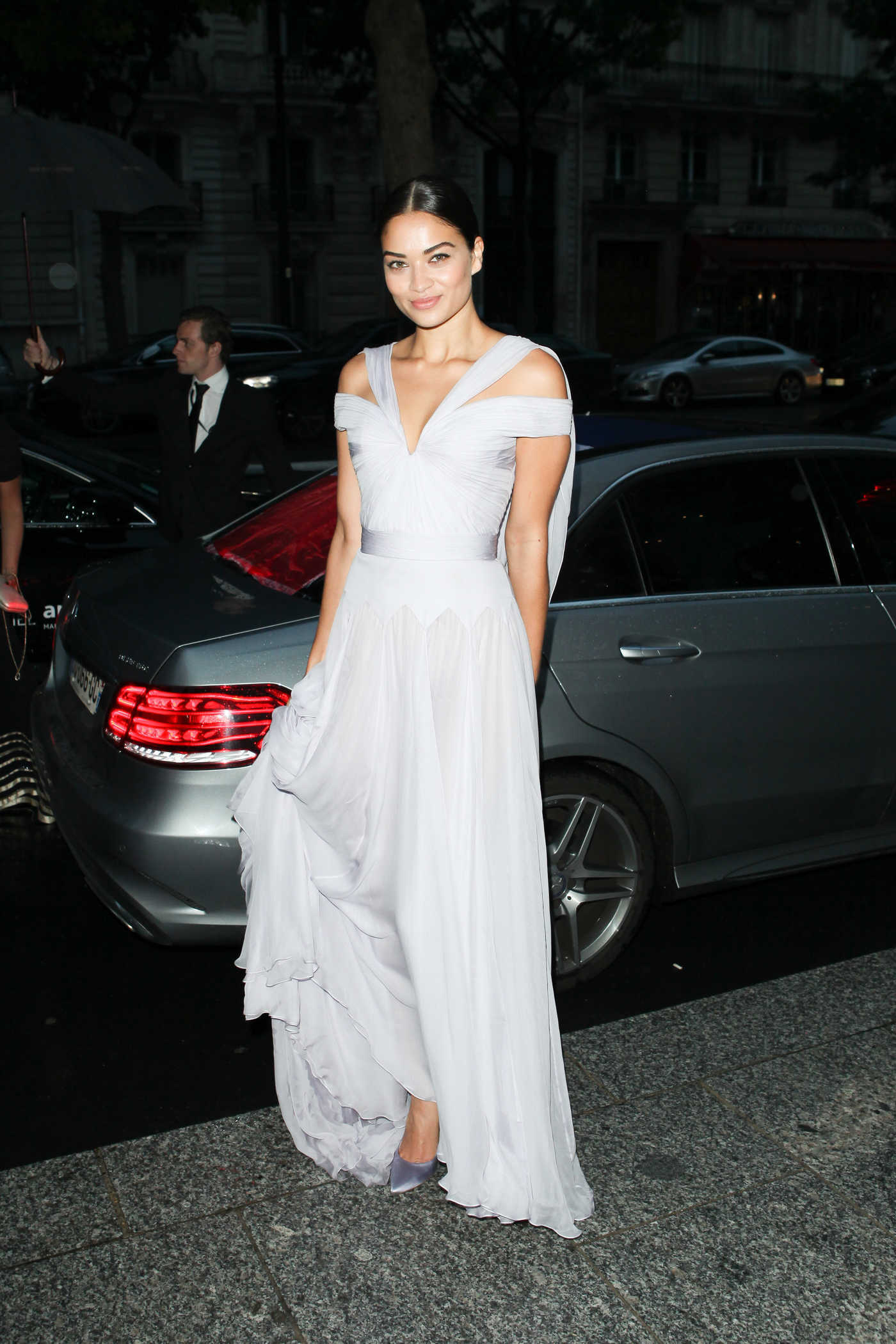 Shanina Shaik at Amfar Dinner During Paris Fashion Week 07/03/2016