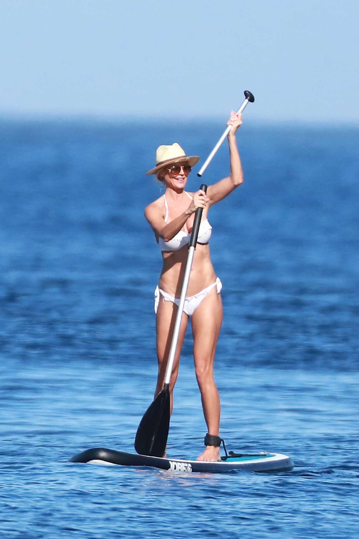 Victoria Silvstedt in Bikini Paddleboarding in Saint Tropez 07/03/2016