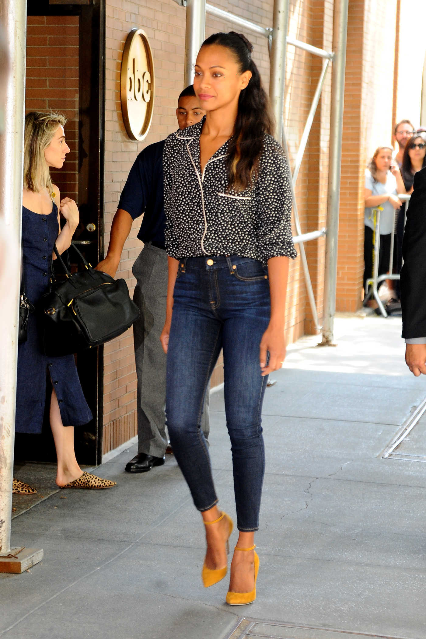 Zoe Saldana at ABC Studios in New York City 07/18/2016