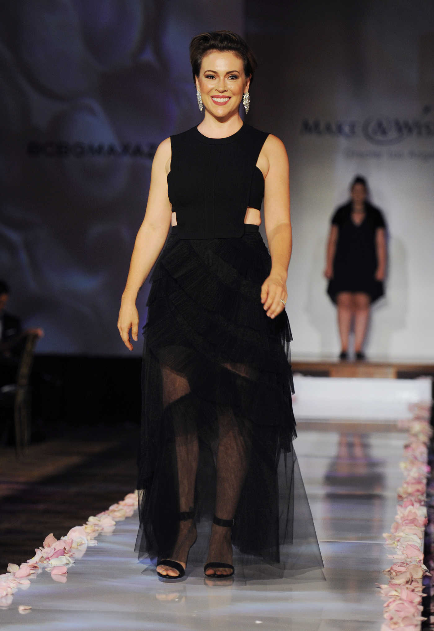 Alyssa Milano at BCBG Make-A-Wish Fashion Show in Los Angeles 08/24/2016