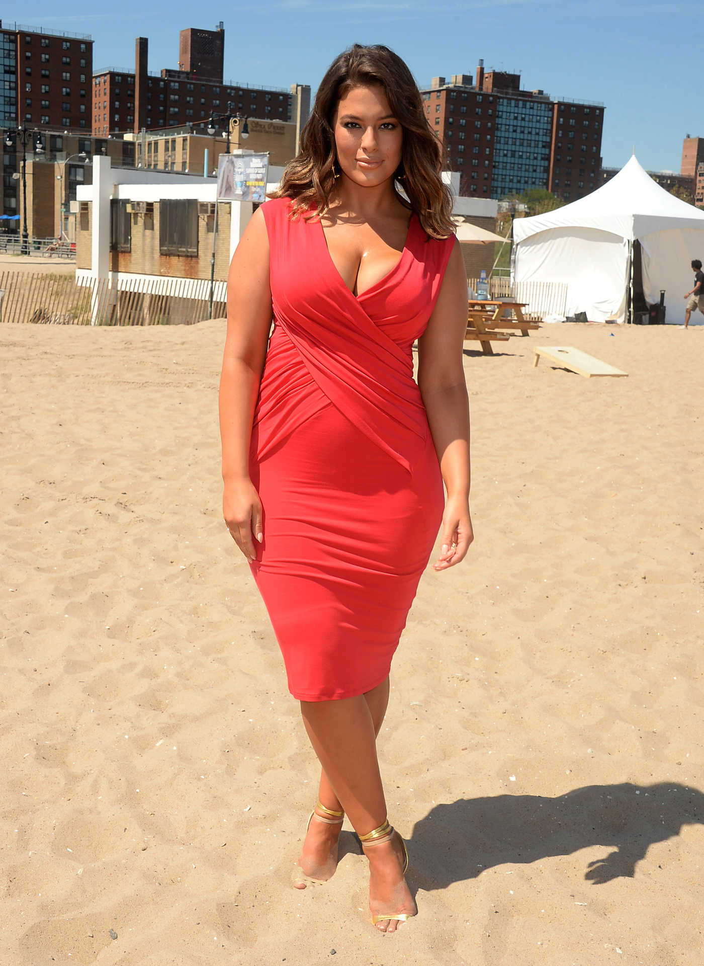 Ashley Graham at the Sports Illustrated Summer of Swim Fan Festival at Coney Island in NY 08/28/2016