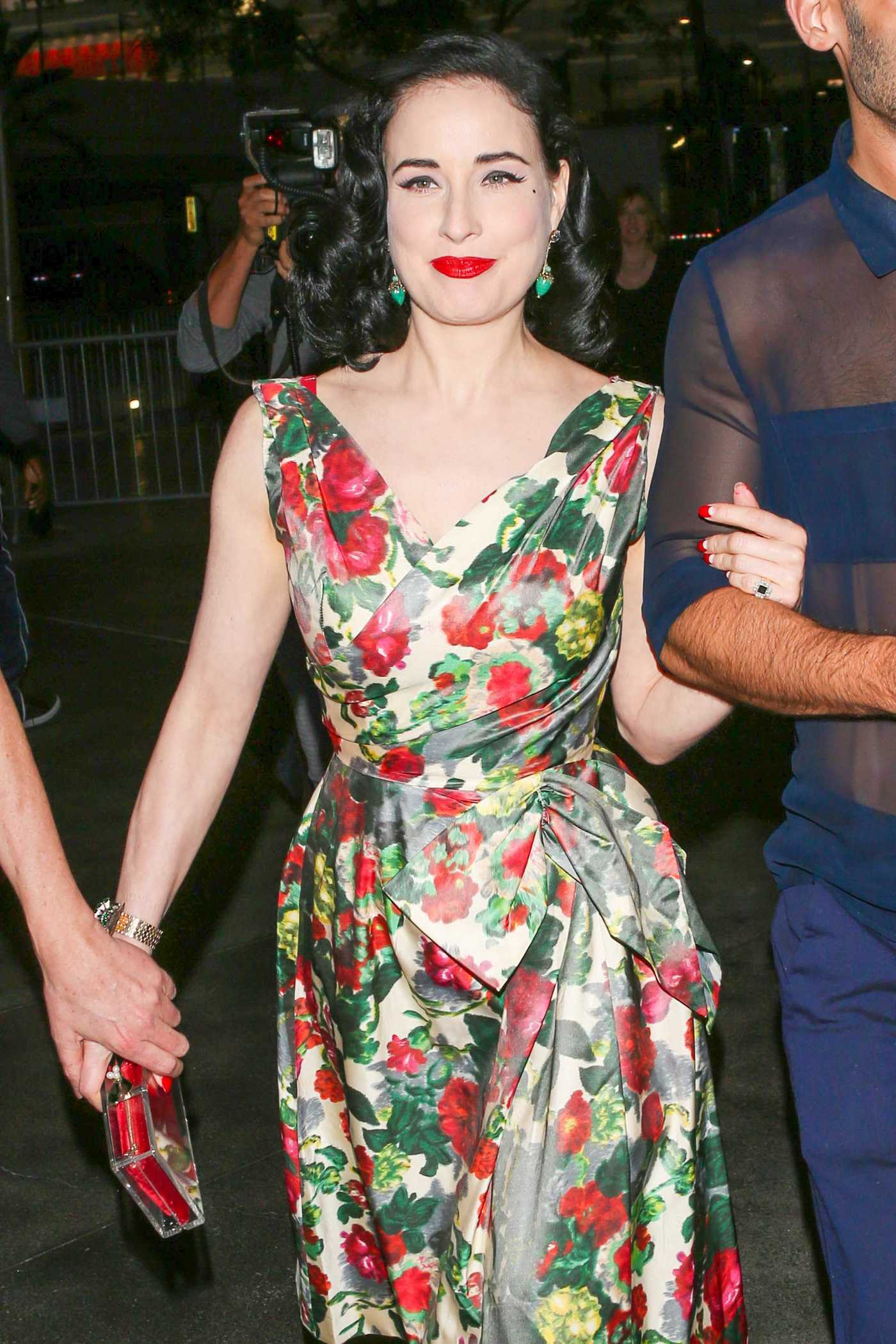 Dita Von Teese Arrives at the Adele Concert in Los Angeles 08/10/2016