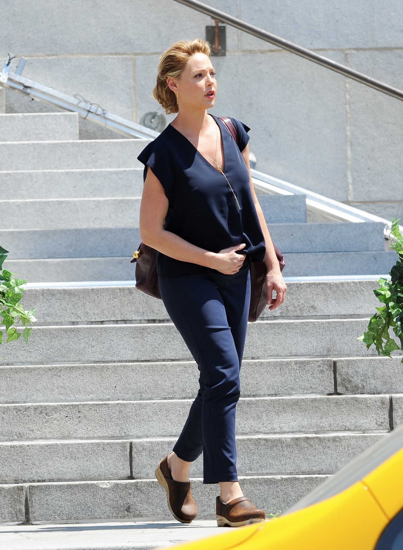 Katherine Heigl on the Set of the TV Show Doubt in Los Angeles 08/02/2016