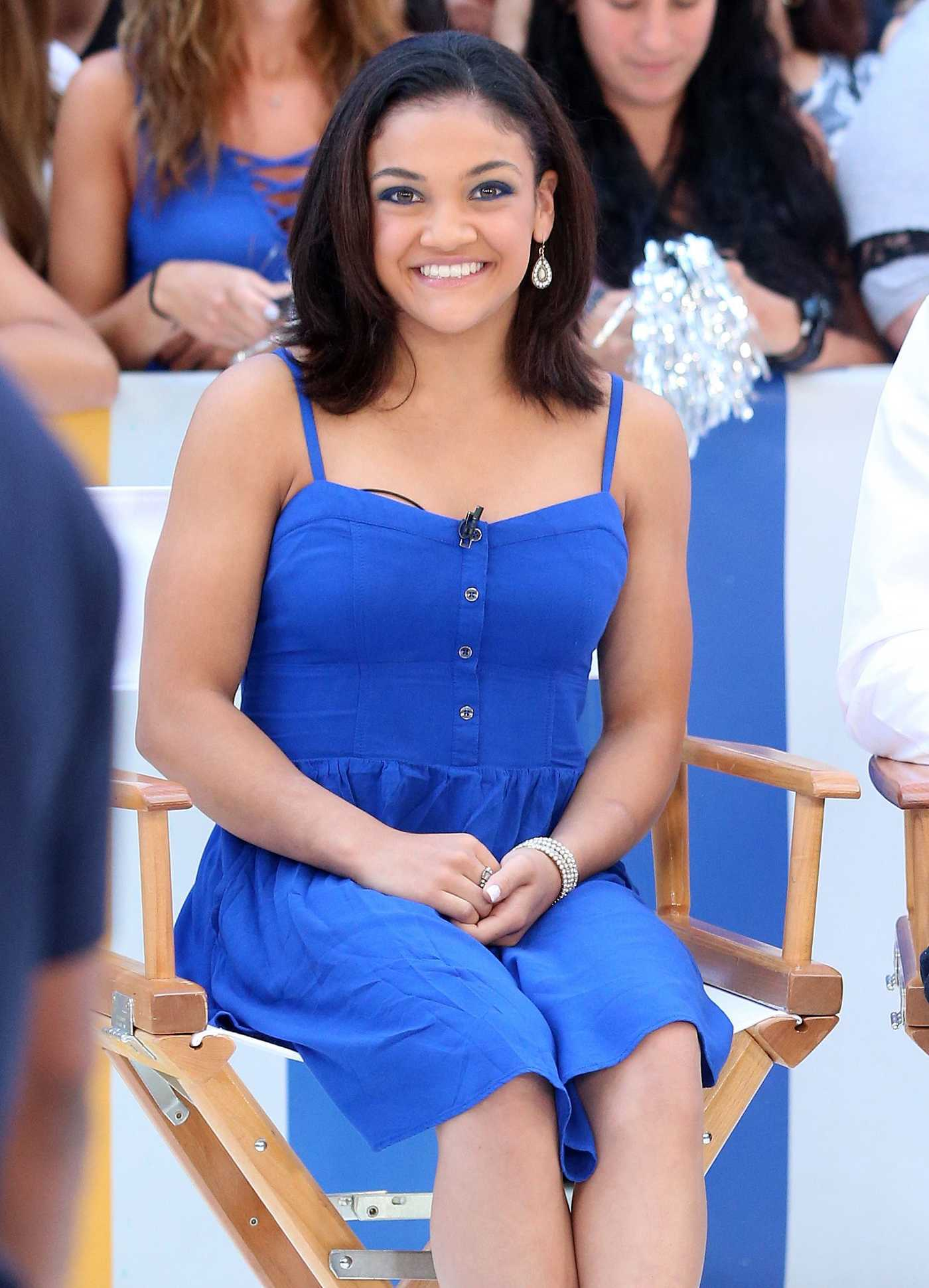 Laurie Hernandez at Good Morning America in New York City 08/30/2016