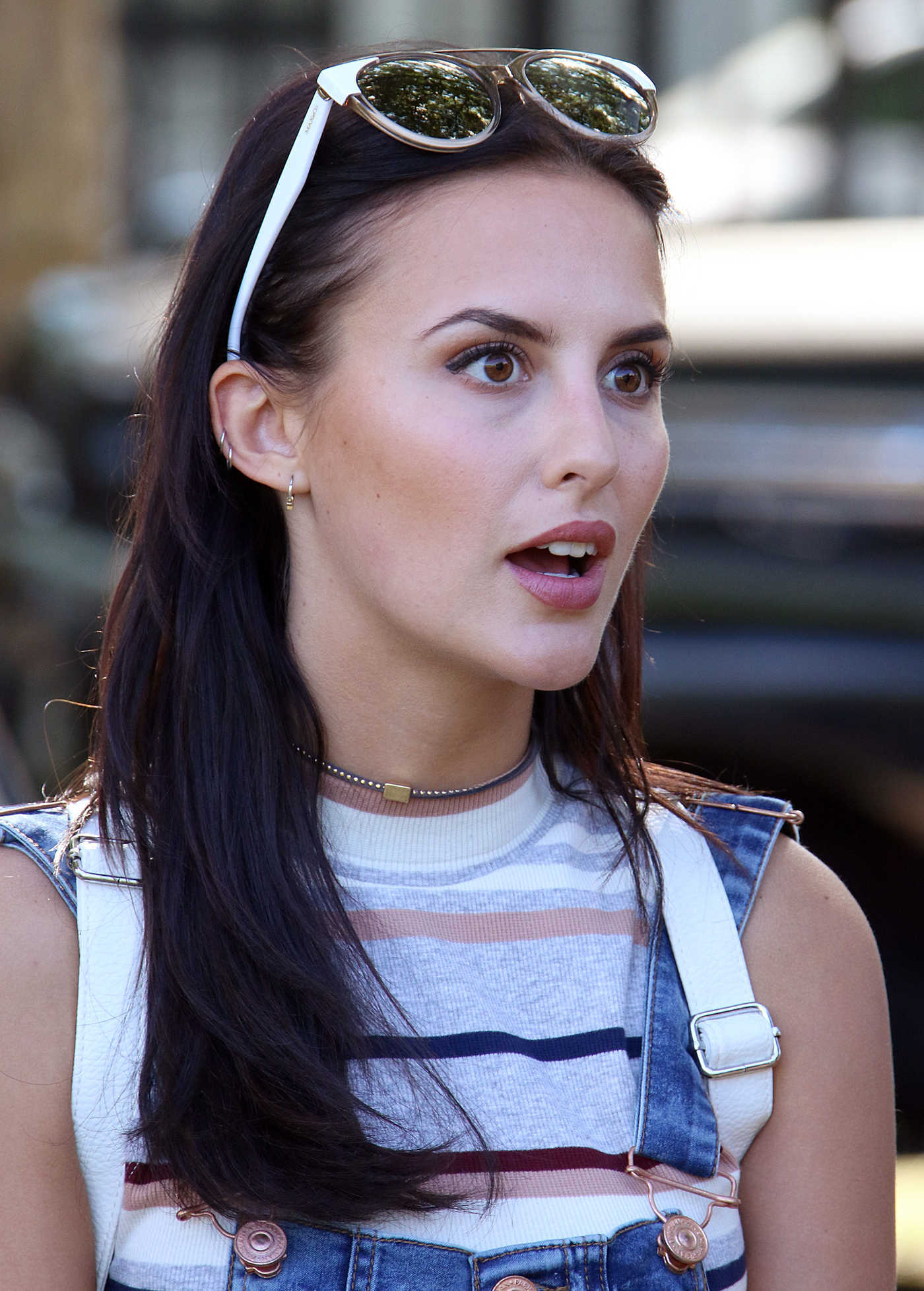 Lucy Watson at the Raffles vs Bodos Cricket and Summer Party at Burton's Court in Chelsea 08/14/2016