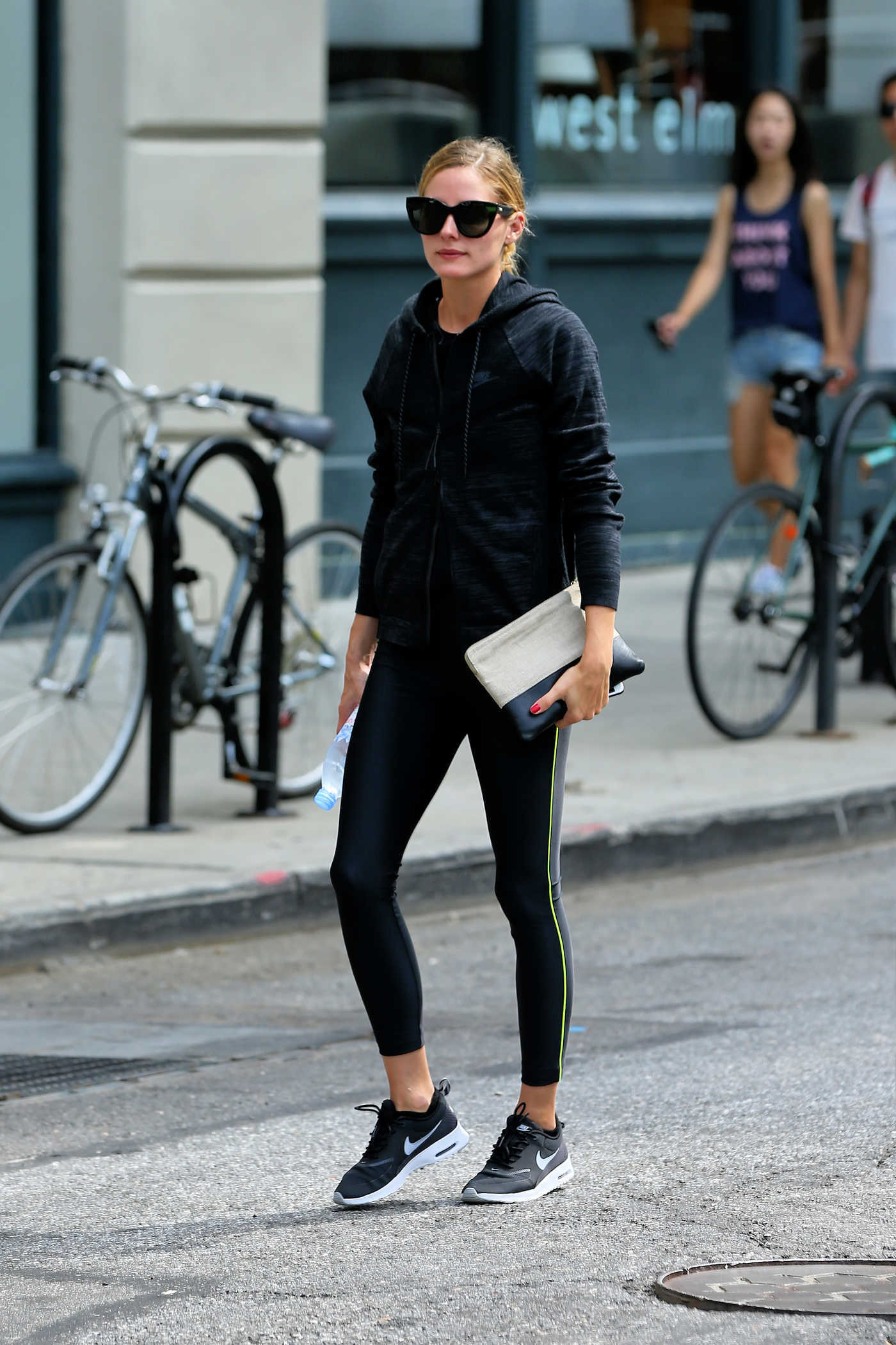 Olivia Palermo Walks to the Gym in New York City 08/16/2016