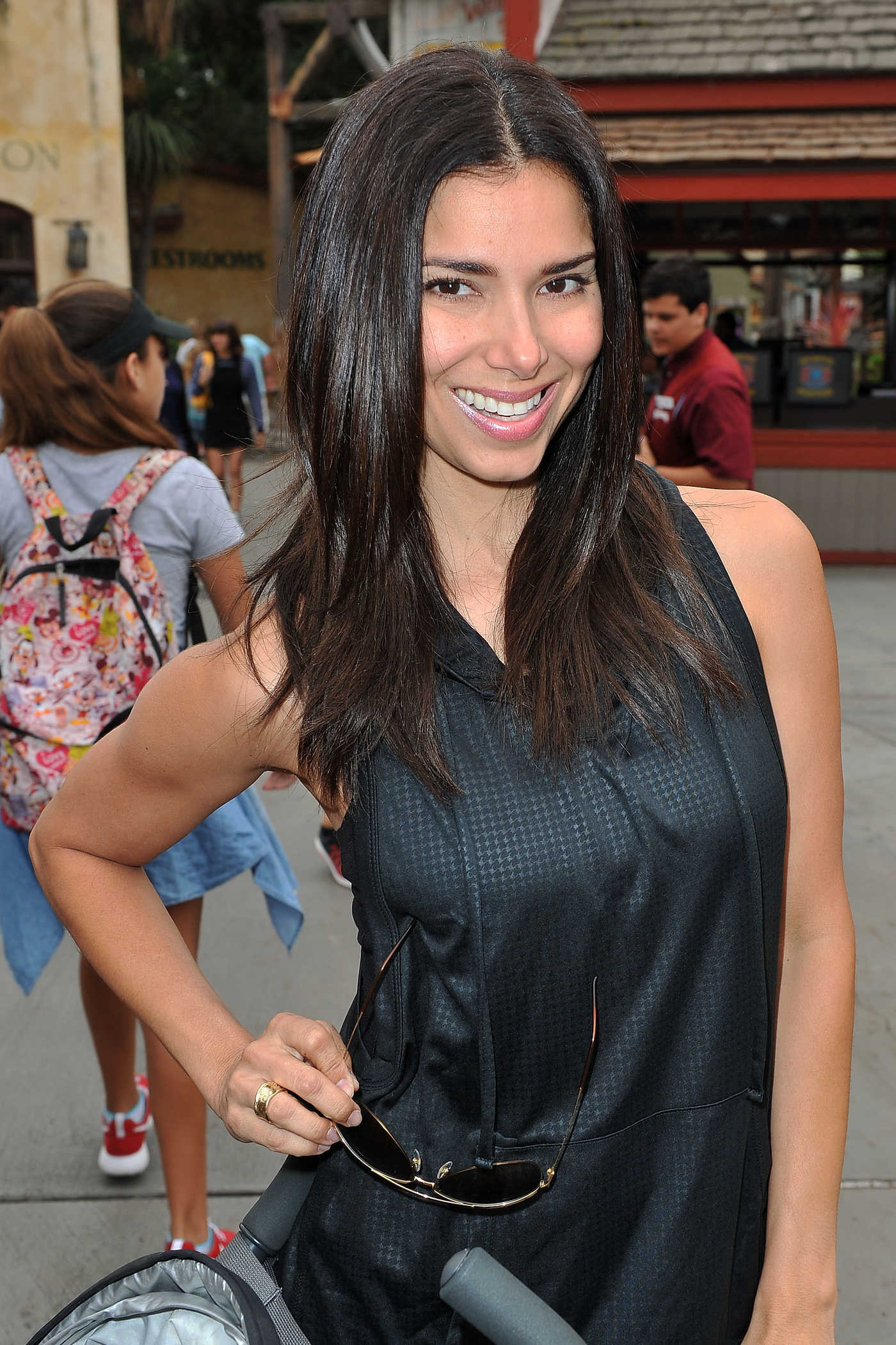 Roselyn Sanchez Visits Camp Snoopy at Knott's Berry Farm in Buena Park 08/27/2016