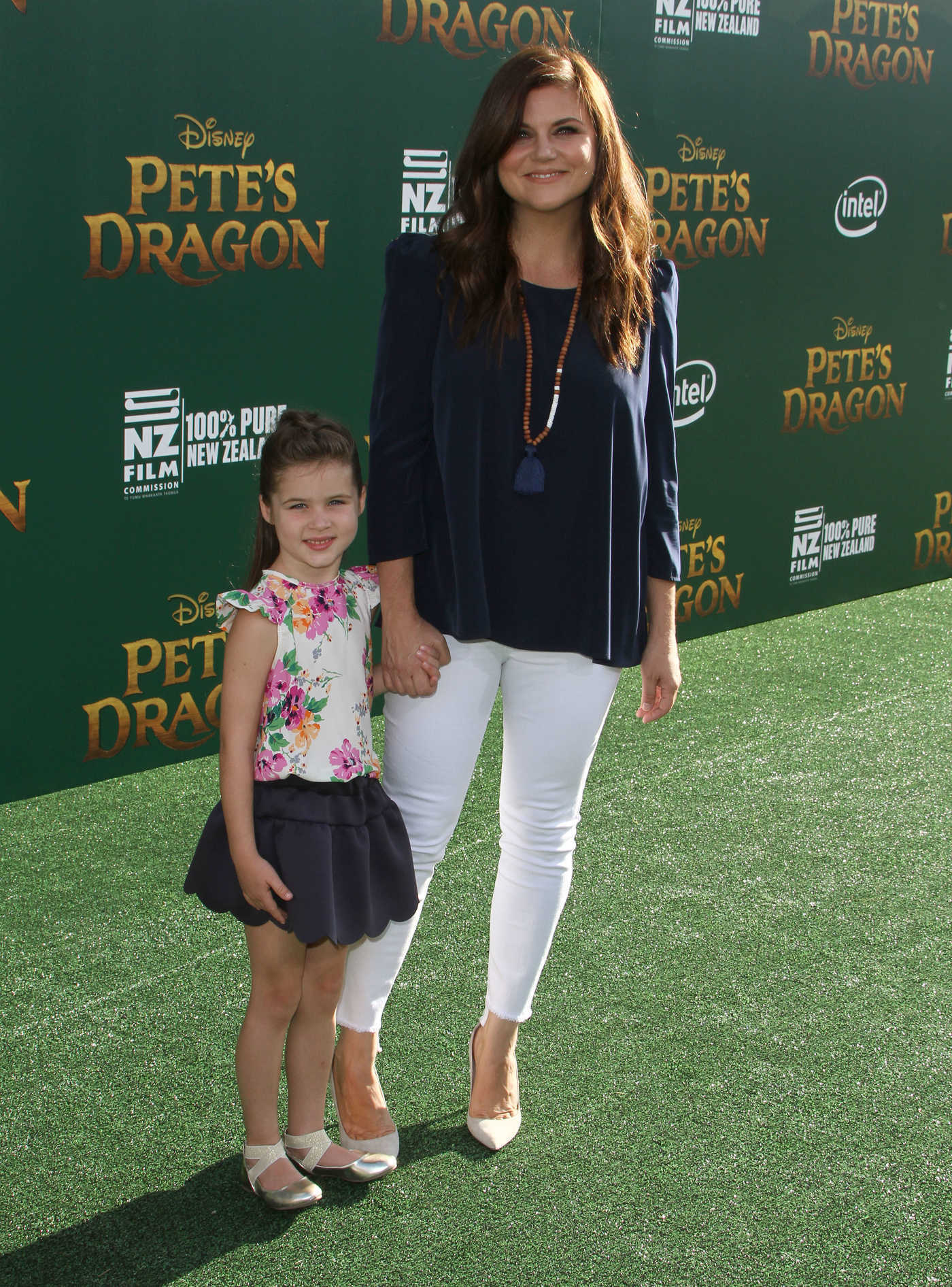 Tiffani Thiessen at the Pete's Dragon Premiere in Los Angeles 08/08/2016
