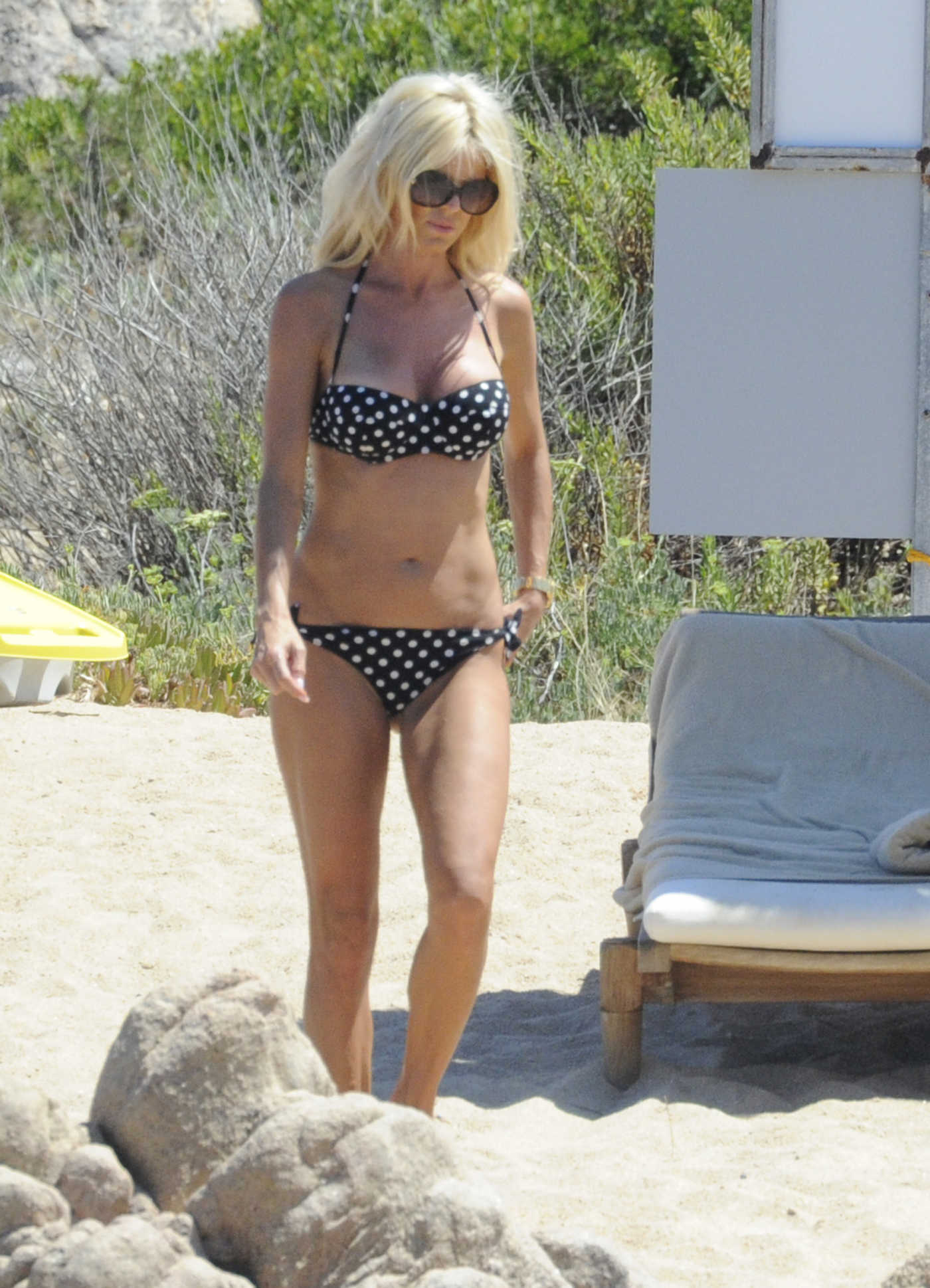 Victoria Silvstedt in Bikini at the Beach in Sardinia 08/08/2016