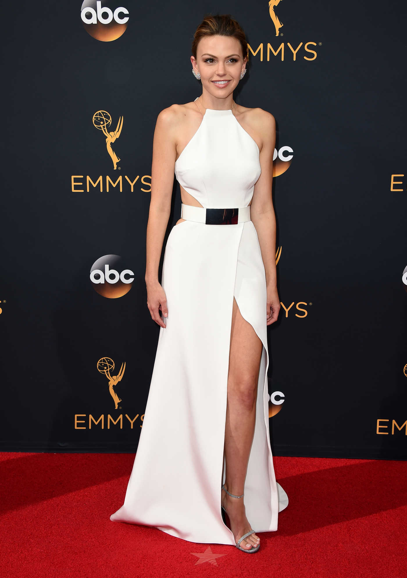 Aimee Teegarden at the 68th Emmy Awards in Los Angeles 09/18/2016