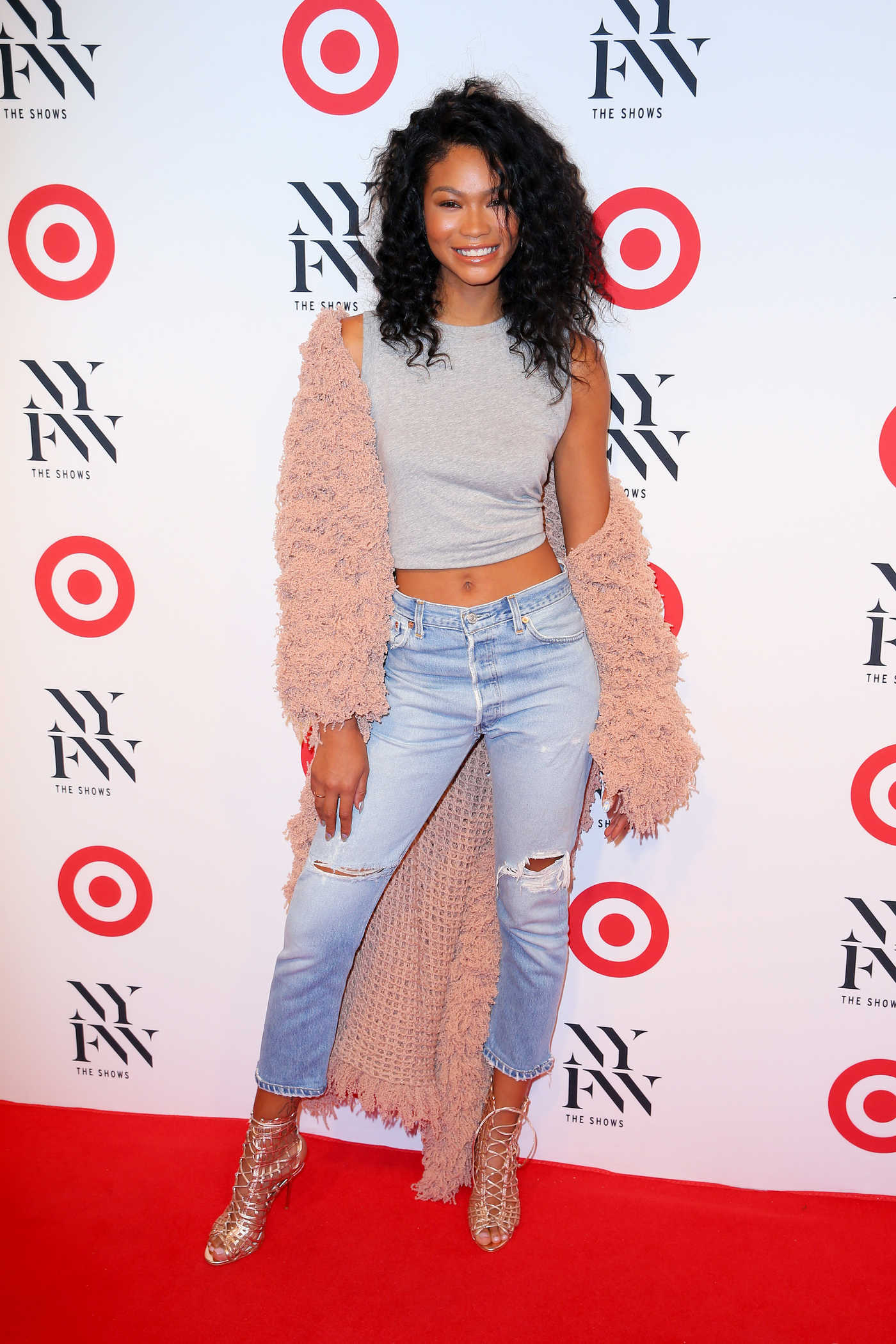 Chanel Iman at the Target + IMG NYFW Kickoff Event at Moynihan Station in New York City 09/06/2016