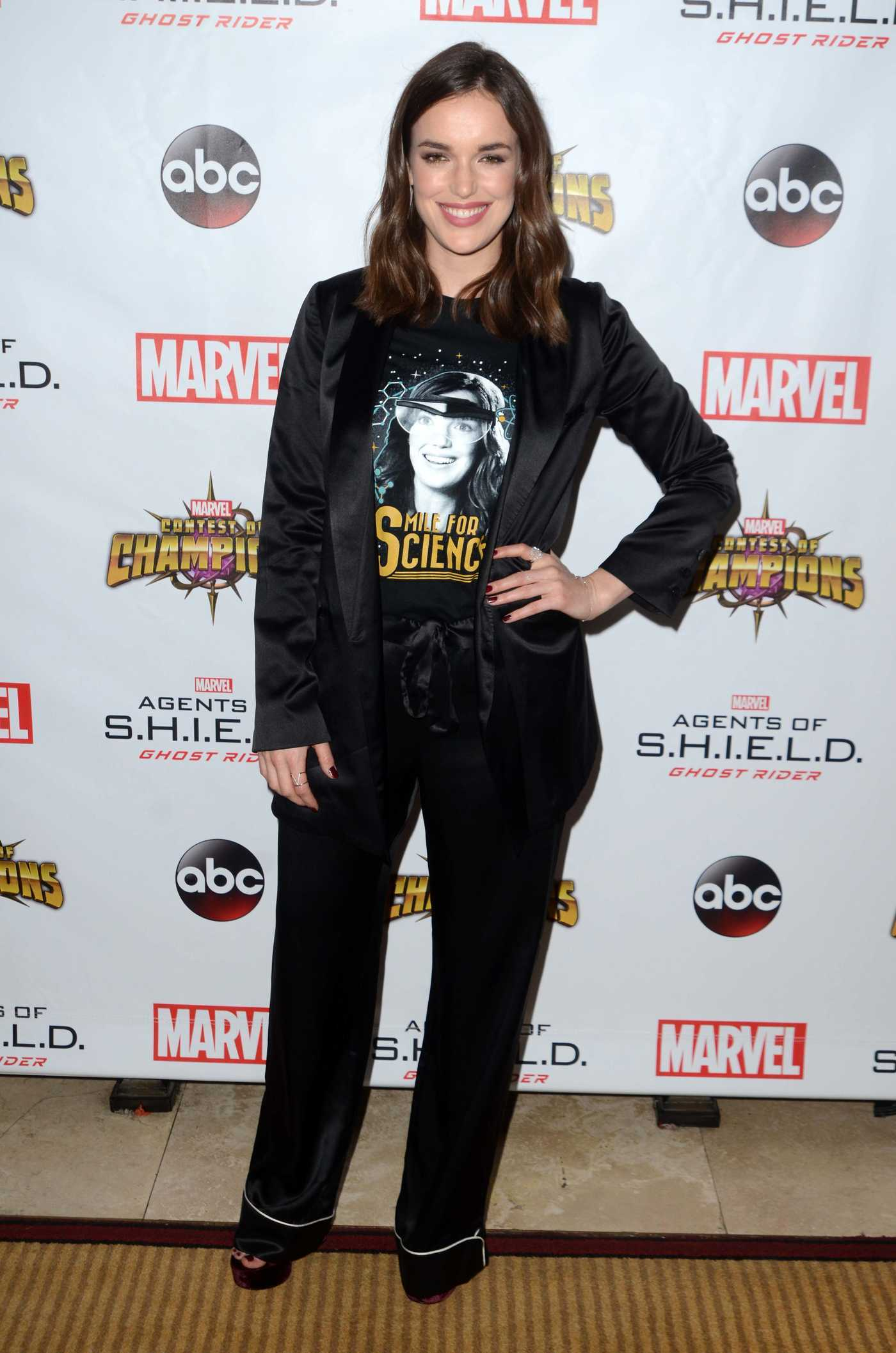 Elizabeth Henstridge at Agents of S.H.I.E.L.D. Season Four Los Angeles Premiere 09/19/2016