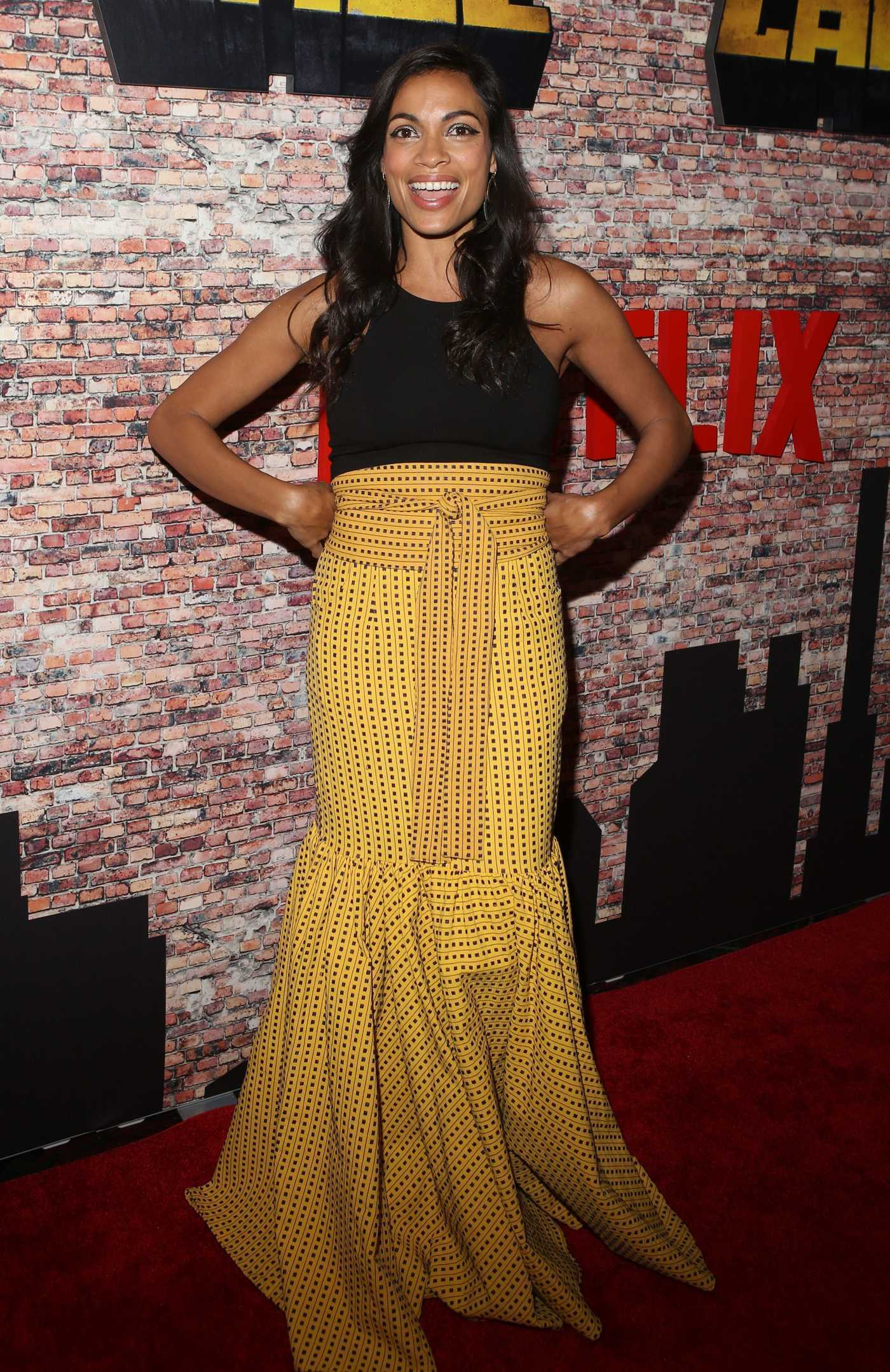 Rosario Dawson at the Luke Cage Premiere in Harlem, New York 09/28/2016
