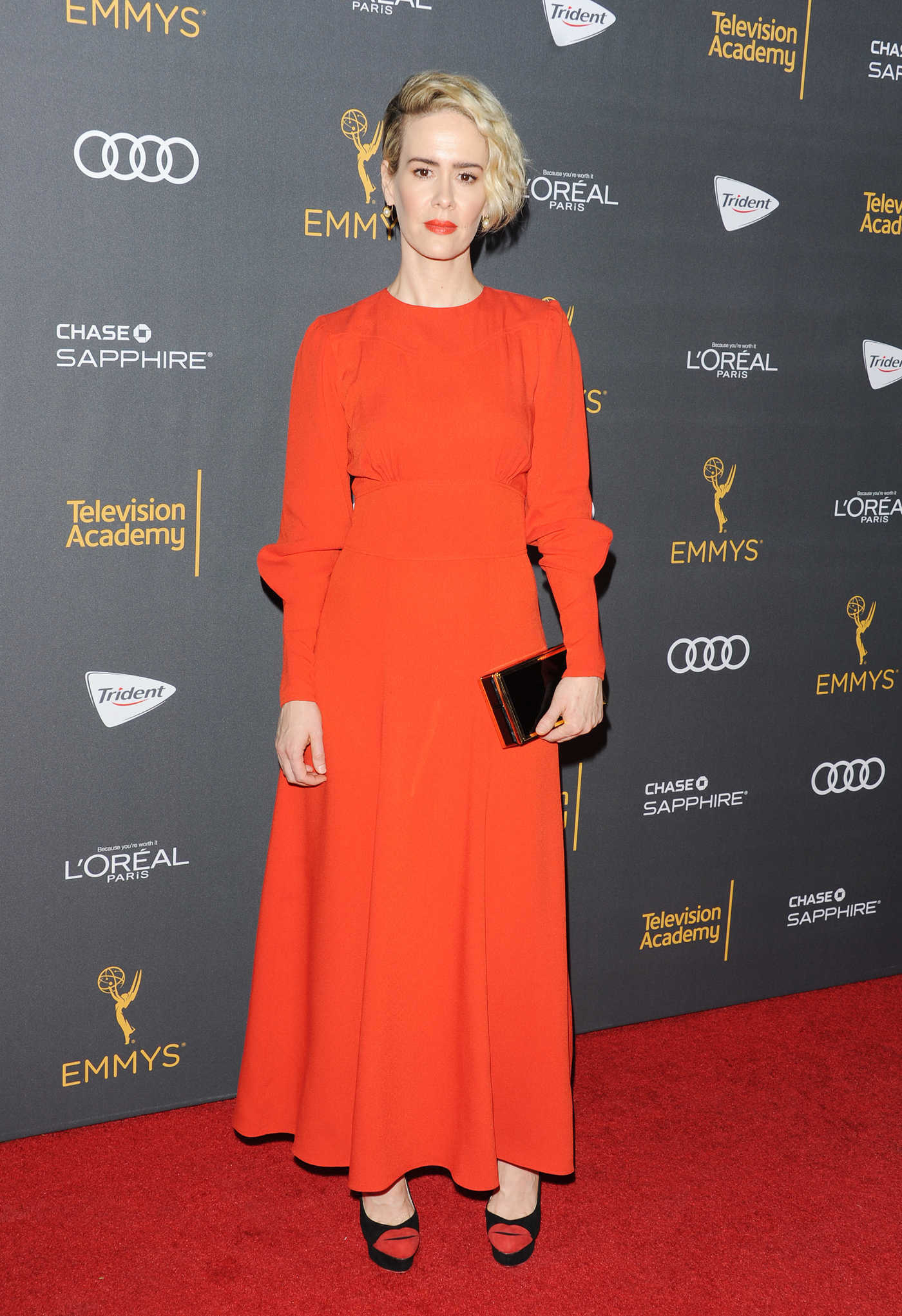Sarah Paulson at the WME Emmy Party at the New Catch LA Restaurant in West Hollywood 09/16/2016