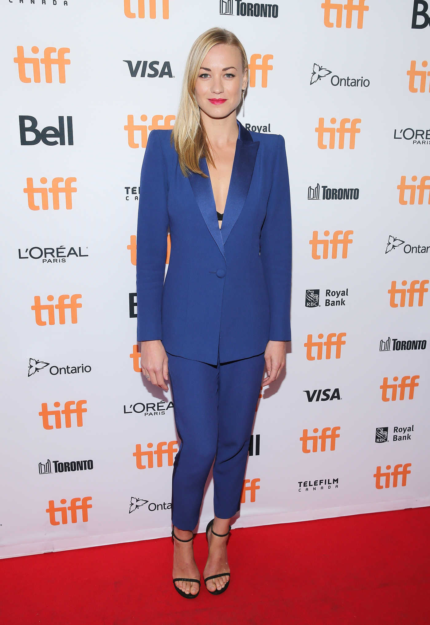 Yvonne Strahovski at All I See is You Premiere During Toronto International Film Festival 09/14/2016