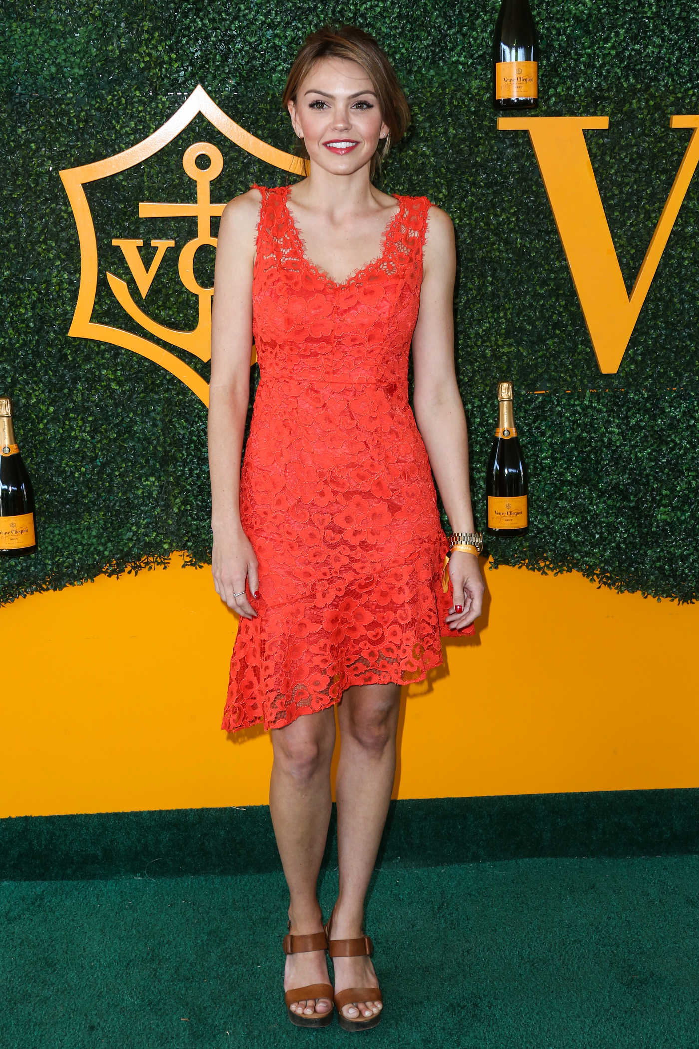 Aimee Teegarden at the 7th Annual Veuve Clicquot Polo Classic in Pacific Palisades 10/15/2016