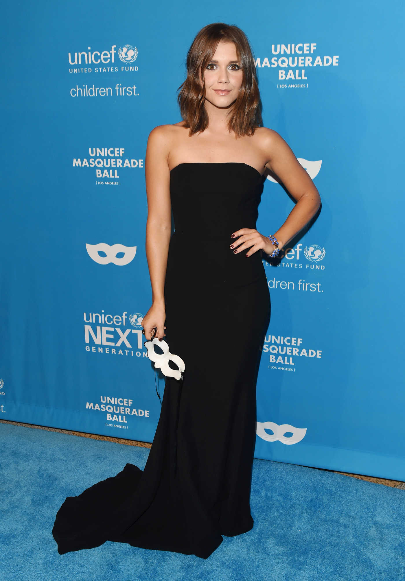 Alexandra Chando at the 2016 UNICEF Masquerade Ball in Los Angeles 10/27/2016
