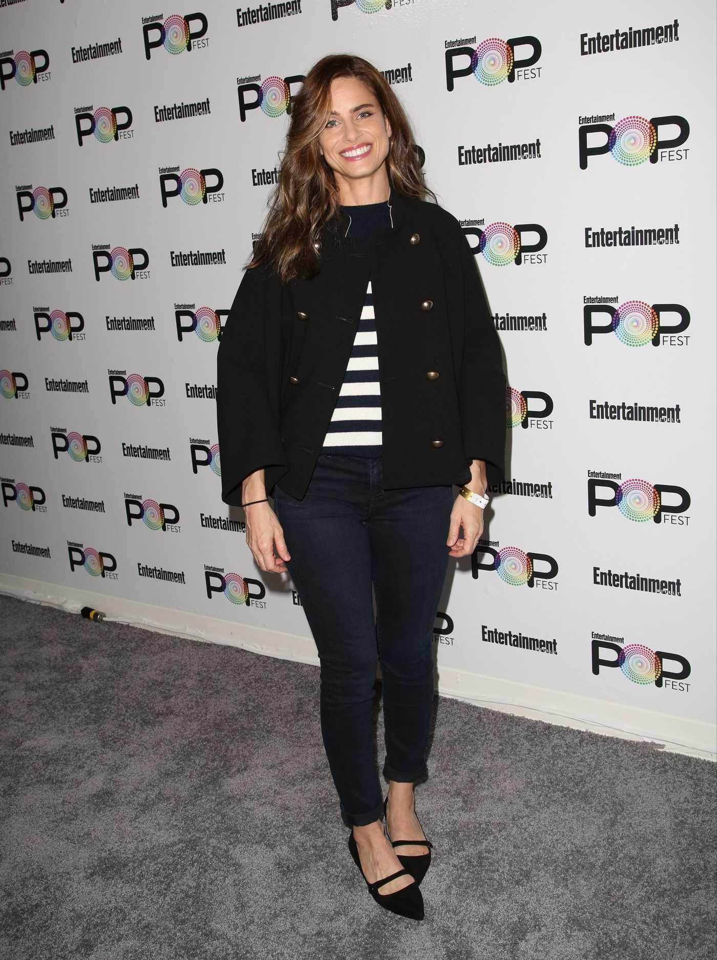 Amanda Peet at Entertainment Weekly's PopFest in Los Angeles 10/30/2016