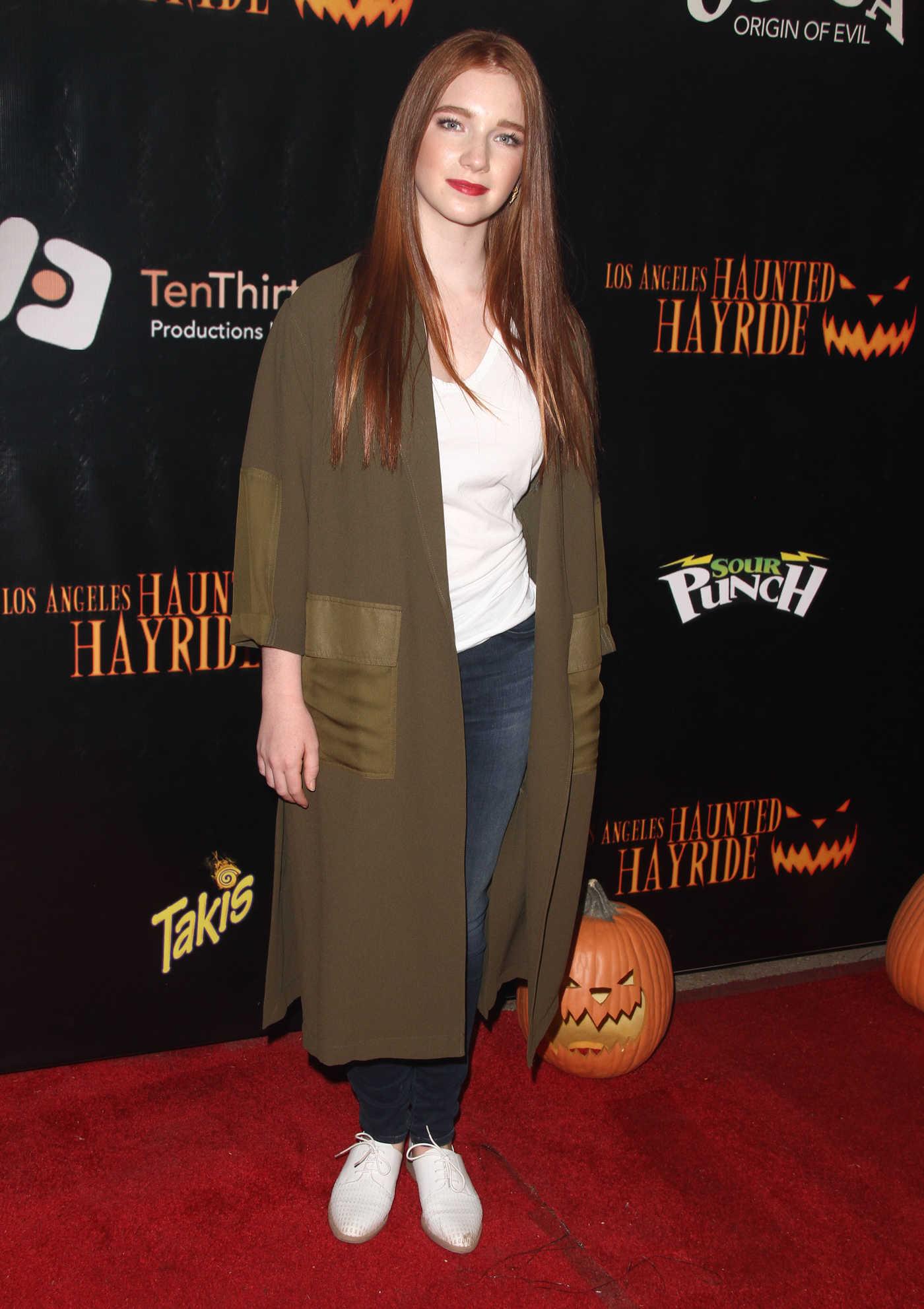 Annalise Basso at the Los Angeles Haunted Hayride in Los Feliz 10/09/2016