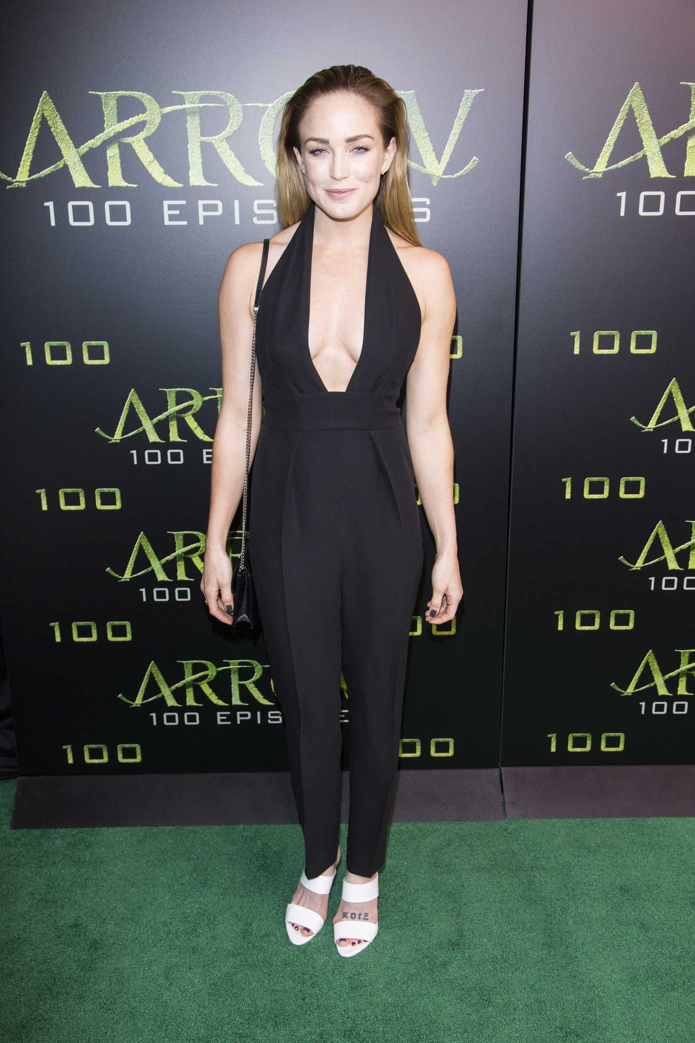 Caity Lotz Celebrates the 100th Episode of Arrow 10/22/2016