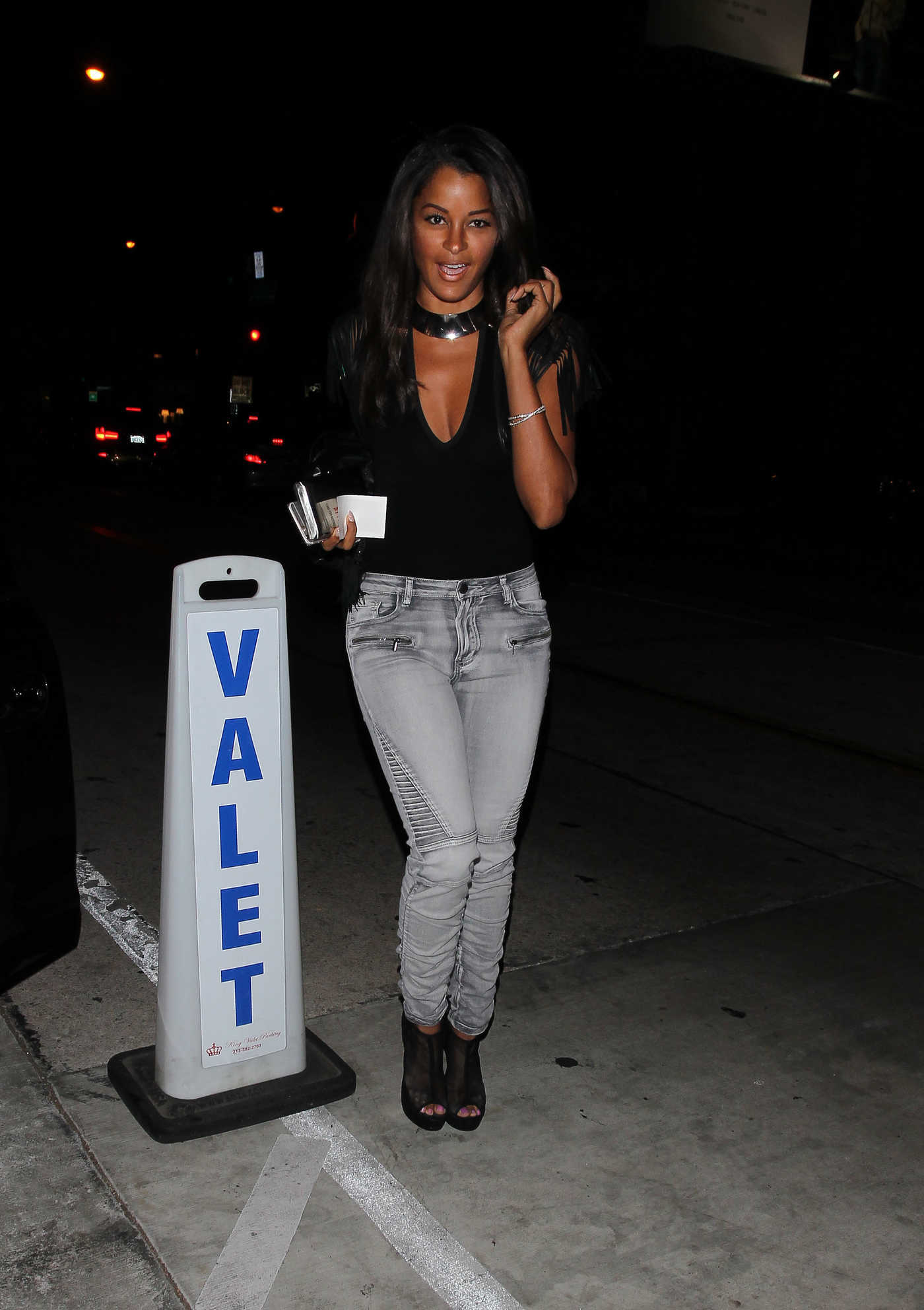 Claudia Jordan Leaves the Catch Restaurant in West Hollywood 10/13/2016