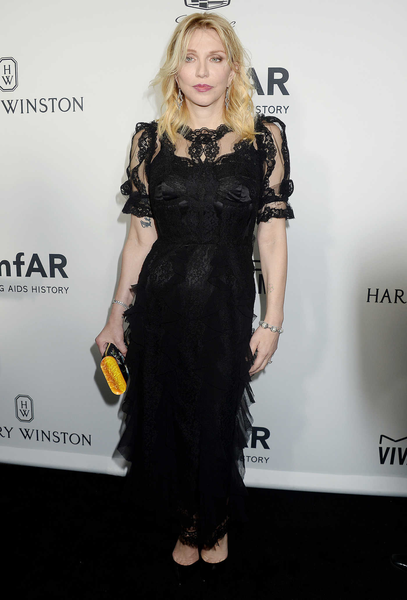 Courtney Love at amfAR's Inspiration Gala in Hollywood 10/27/2016