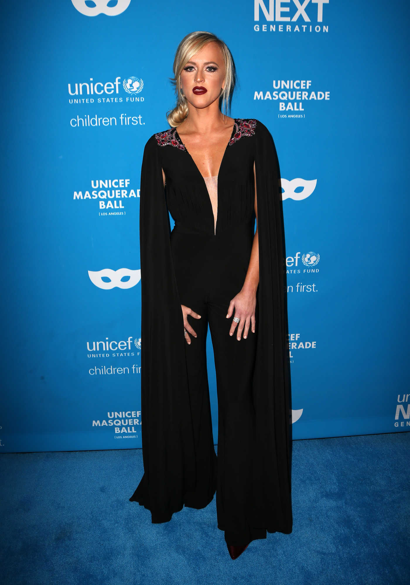 Danielle Moinet at the 2016 UNICEF Masquerade Ball in Los Angeles 10/27/2016