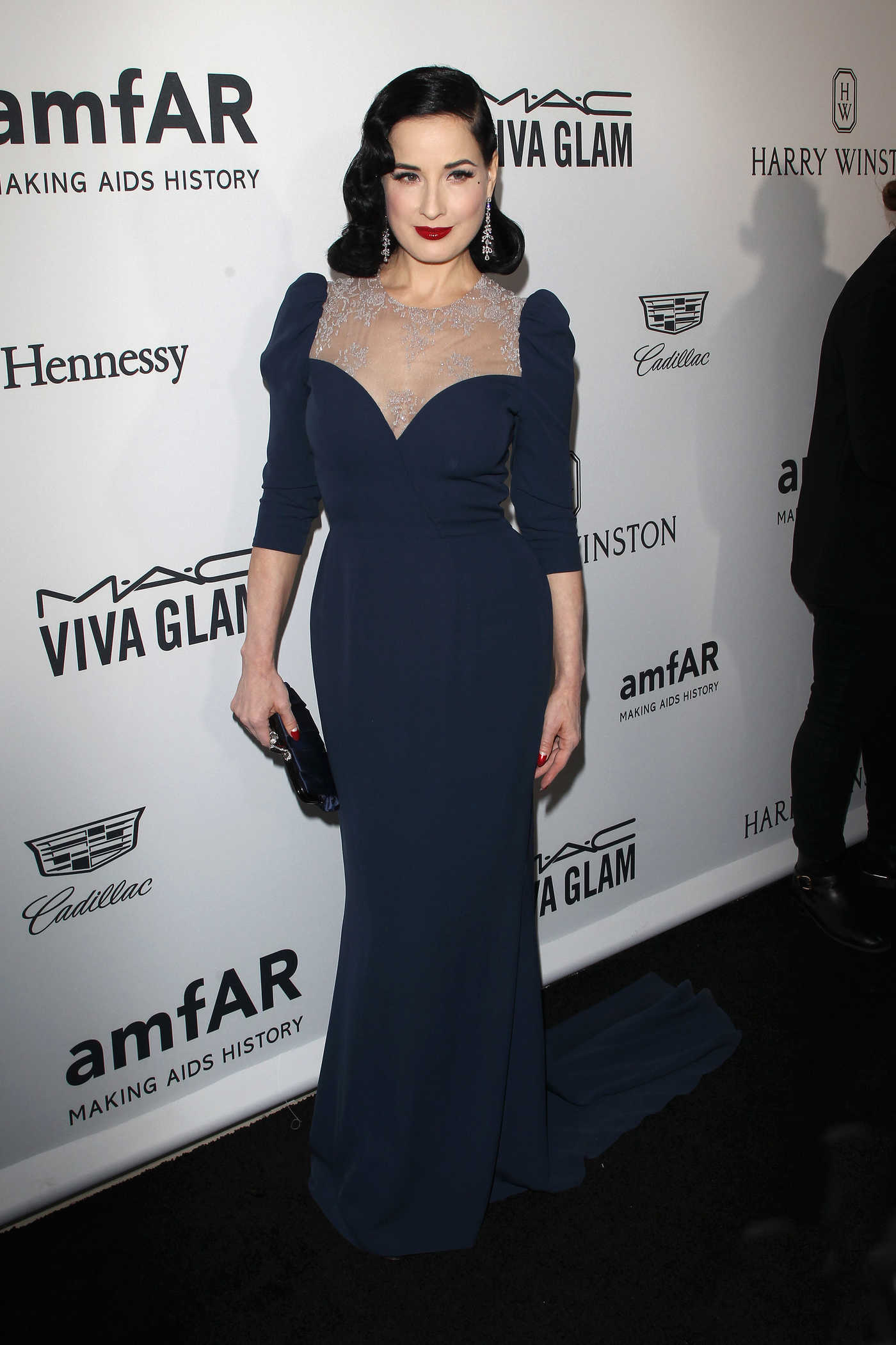 Dita Von Teese at amfAR's Inspiration Gala in Hollywood 10/27/2016