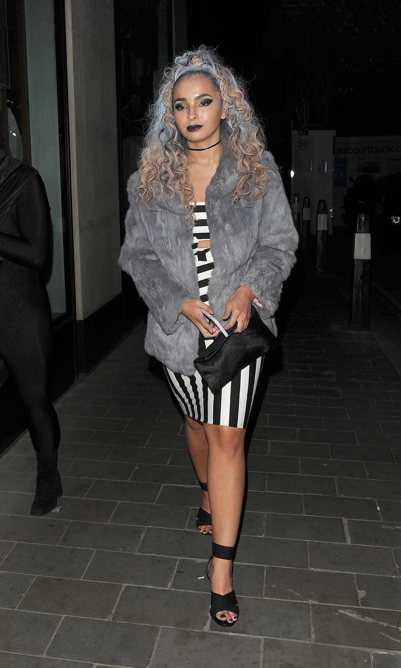 Ella Eyre Arrives at the M Restaurant Halloween Party 10/29/2016