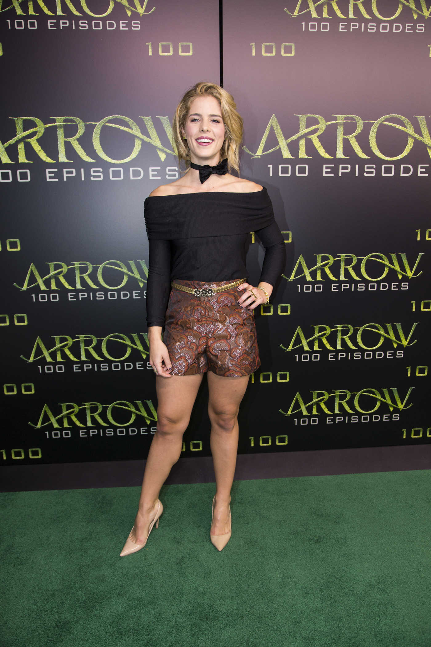 Emily Bett Rickards Celebrates the 100th Episode of Arrow 10/22/2016