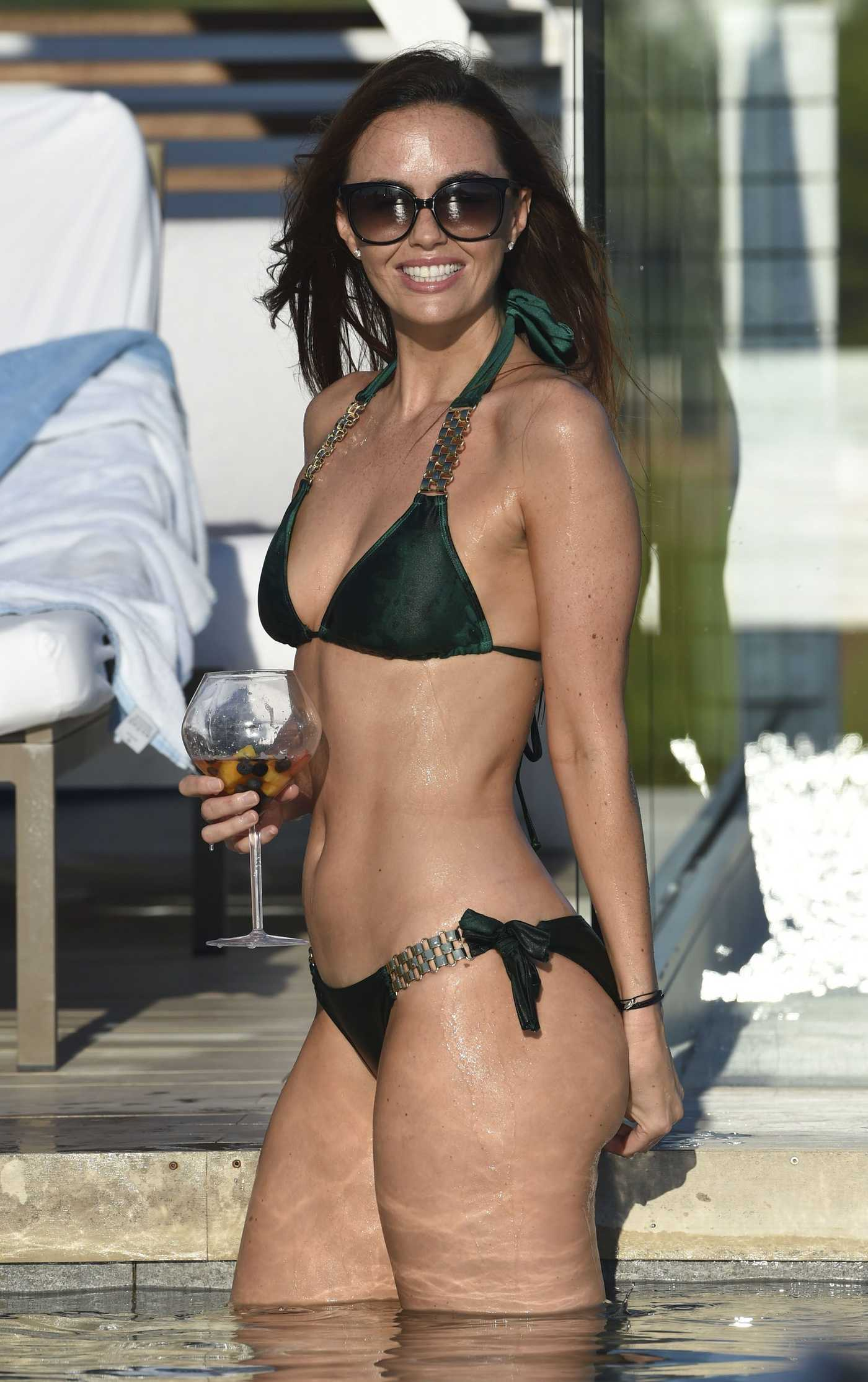 Jennifer Metcalfe in Bikini by the Pool in Ibiza 10/14/2016