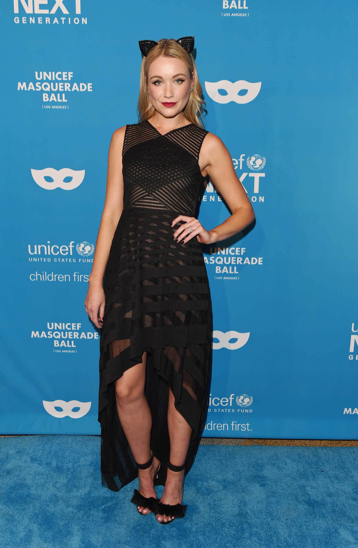Katrina Bowden at the 2016 UNICEF Masquerade Ball in Los Angeles 10/27/2016