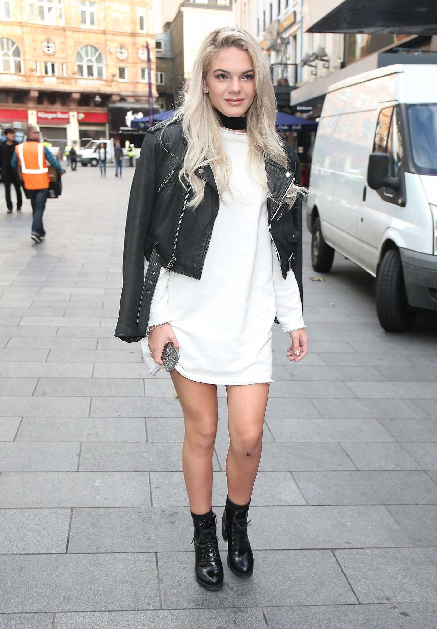 Louisa Johnson Arrives at Global Radio in London 10/20/2016