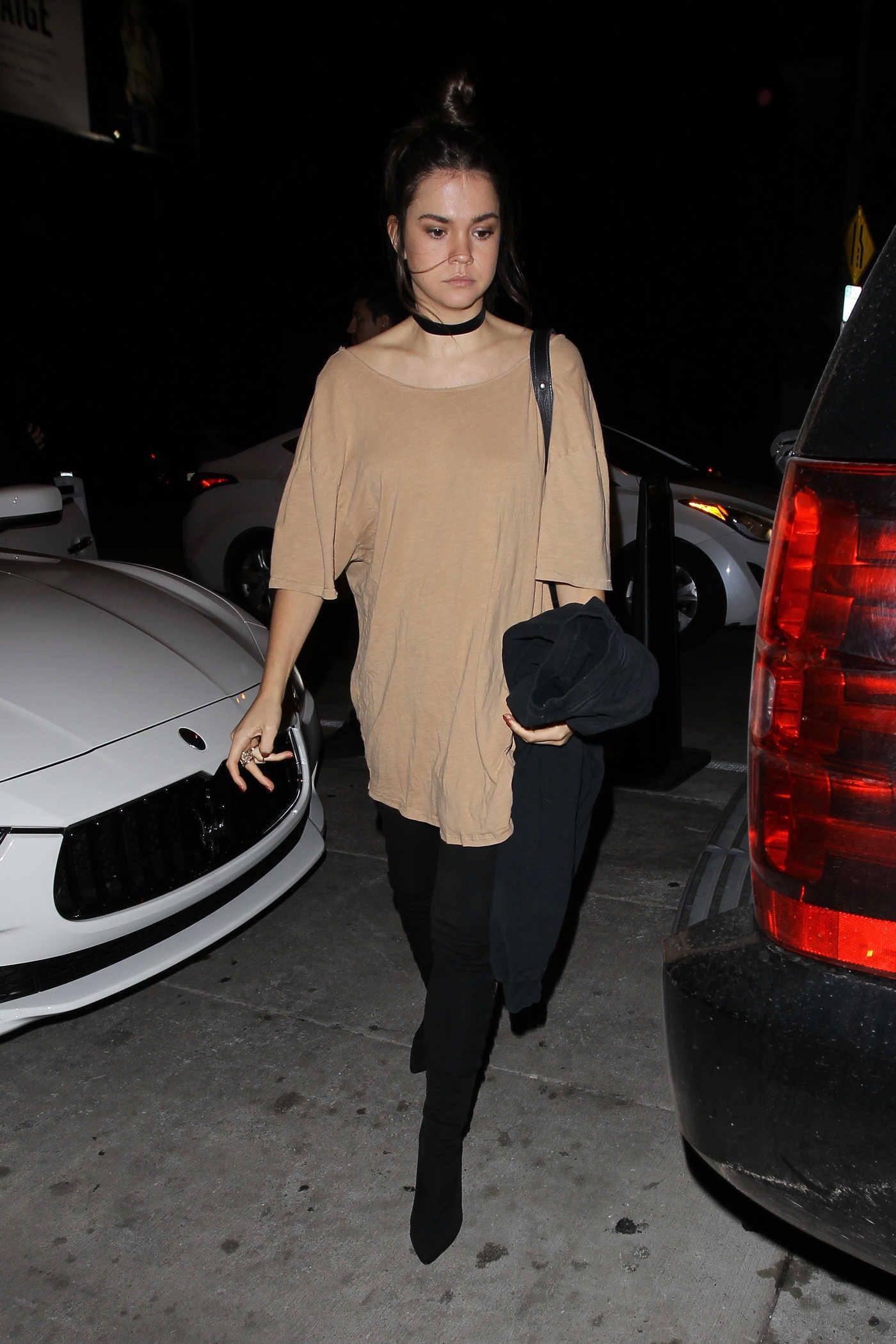 Maia Mitchell Arrives at Catch Restaurant in West Hollywood 10/28/2016