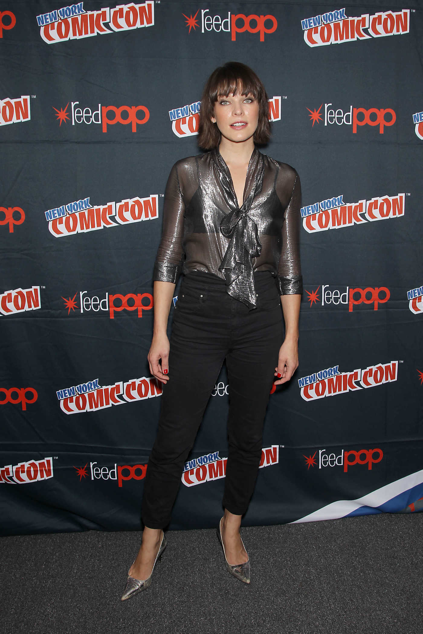Milla Jovovich at the Resident Evil: the Final Chapter Panel During New York Comic-Con 10/07/2016