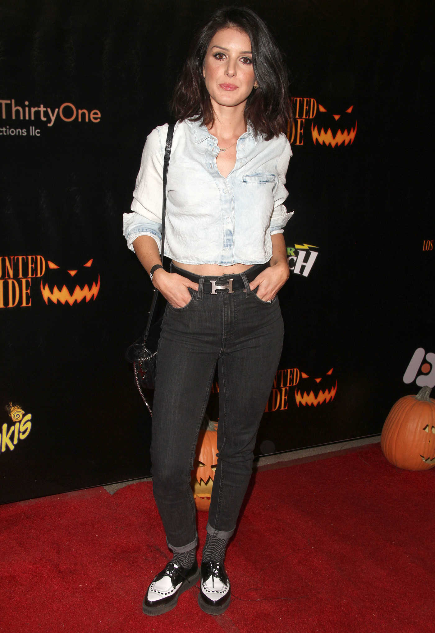 Shenae Grimes at the Los Angeles Haunted Hayride in Los Feliz 10/09/2016