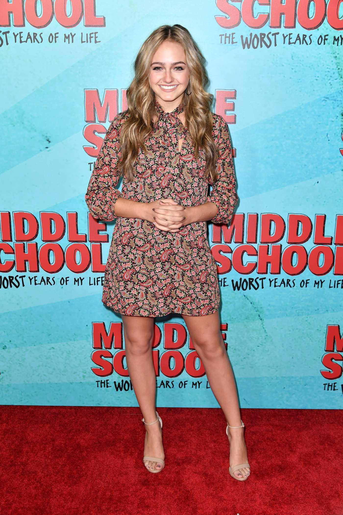 Sophie Reynolds at the Middle School: The Worst Years of My Life Premiere in Los Angeles 10/05/2016