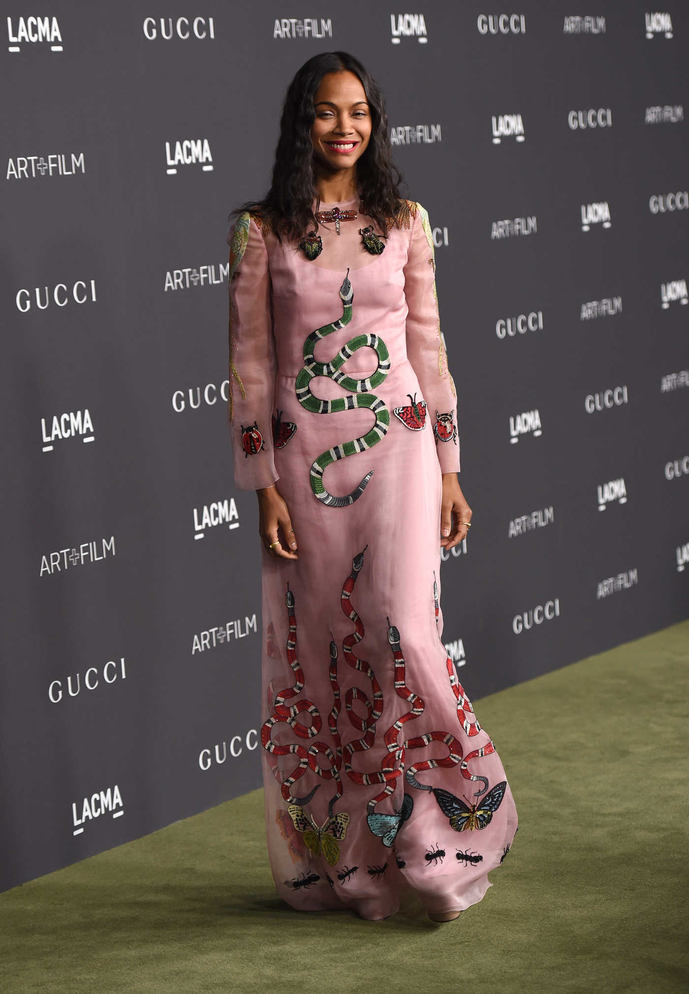Zoe Saldana at the LACMA Art and Film Gala in Los Angeles 10/29/2016