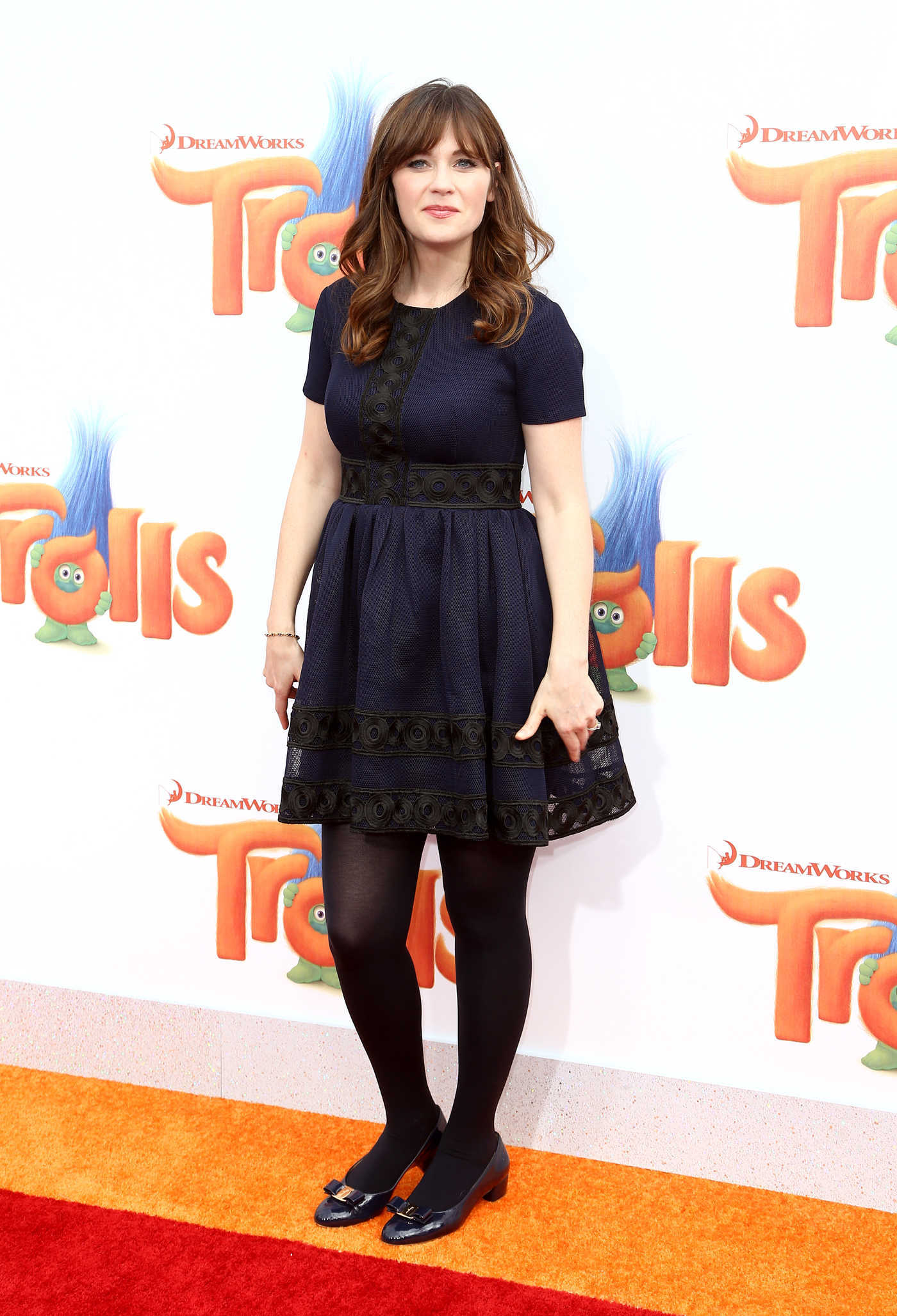 Zooey Deschanel at the Trolls Premiere in Westwood 10/23/2016