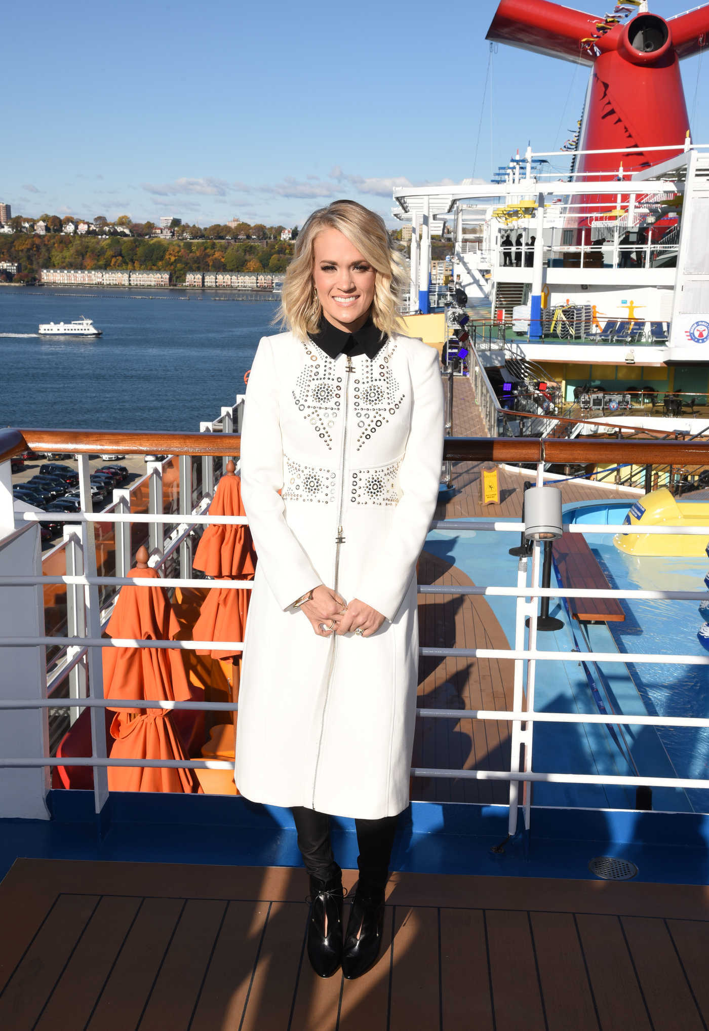 Carrie Underwood Promotes Carnival Vista Cruise Ships in NYC 11/04/2016